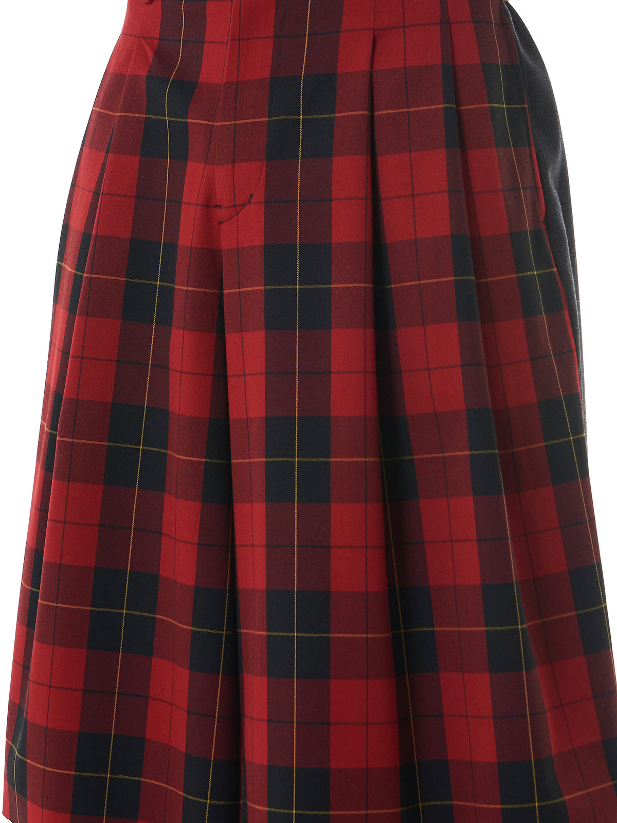 Checkered Skirt-Shorts (17TMP12004-RED-CHARCOAL) - H. Lorenzo