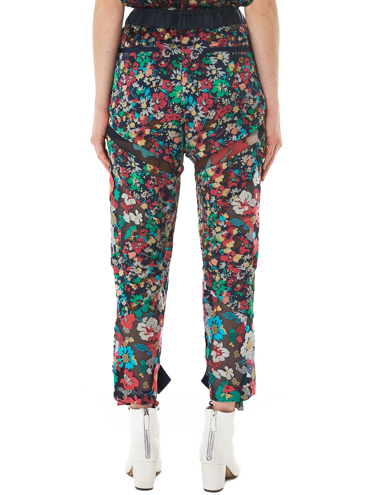 Sacai Floral Trousers - Hlorenzo back