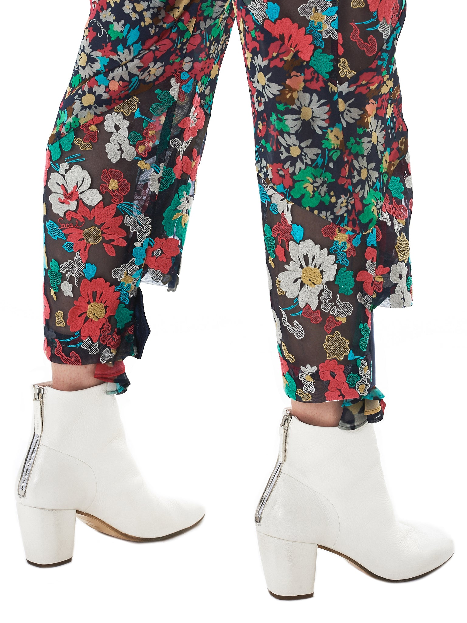 Sacai Floral Trousers - Hlorenzo Detail 1