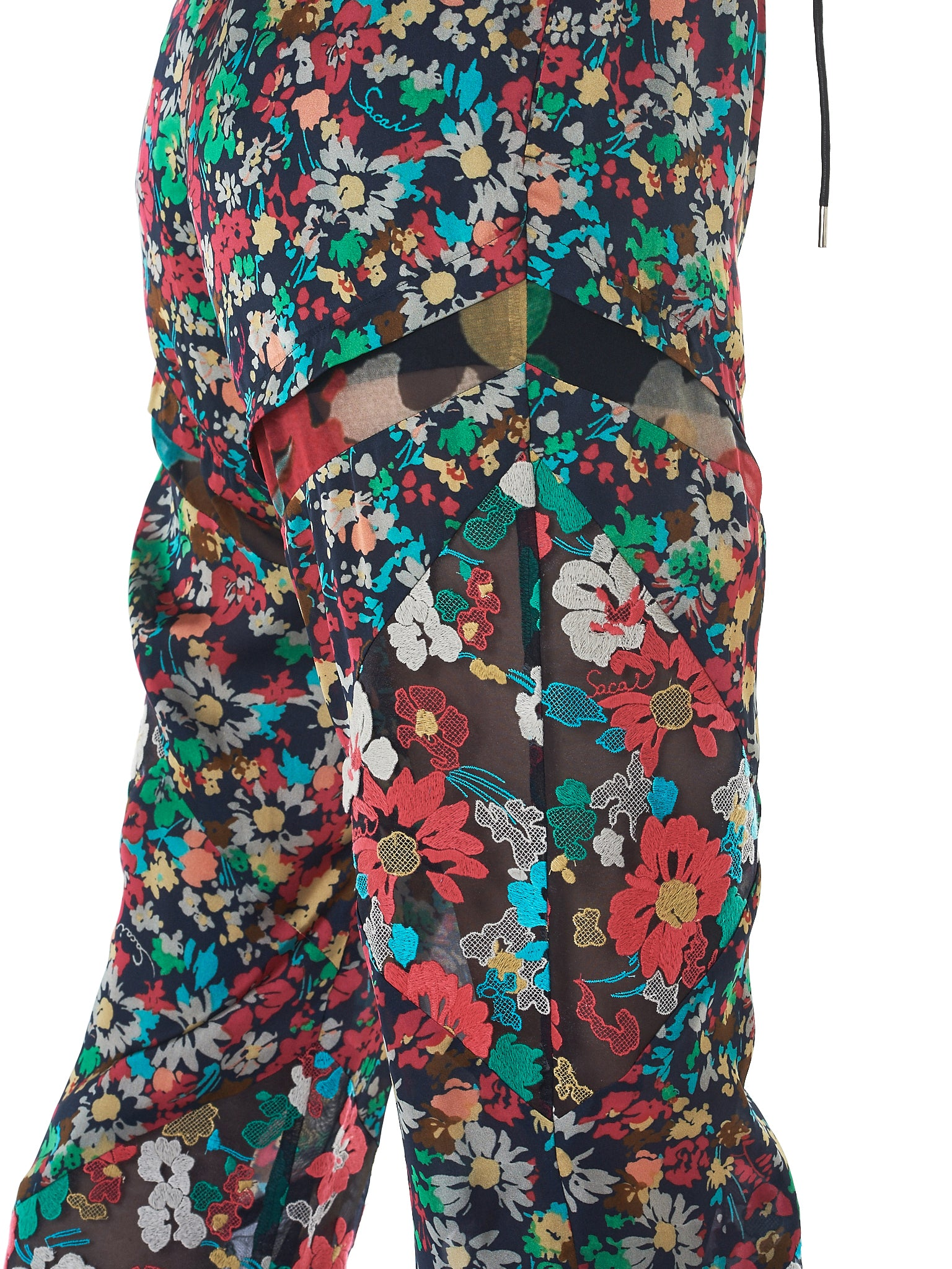 Sacai Floral Trousers - Hlorenzo Detail 2
