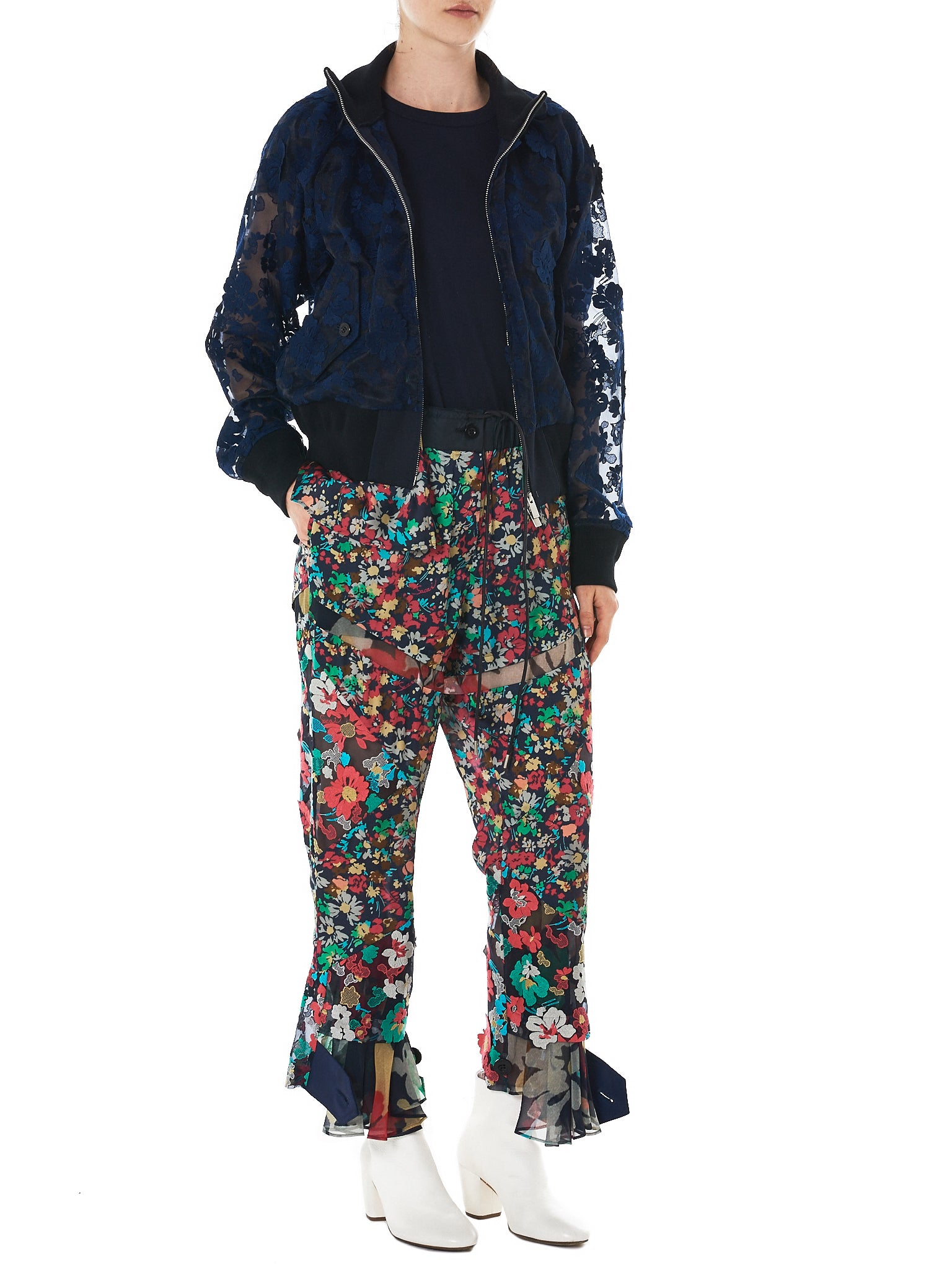 Sacai Floral Trousers - Hlorenzo Style
