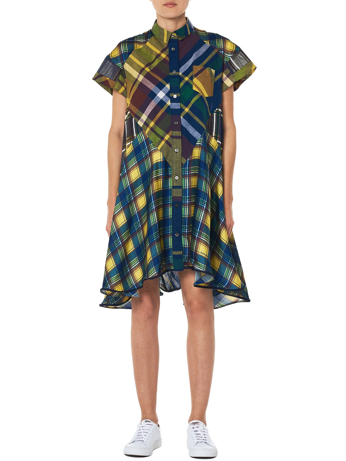 Sacai Check Dress - Hlorenzo Front