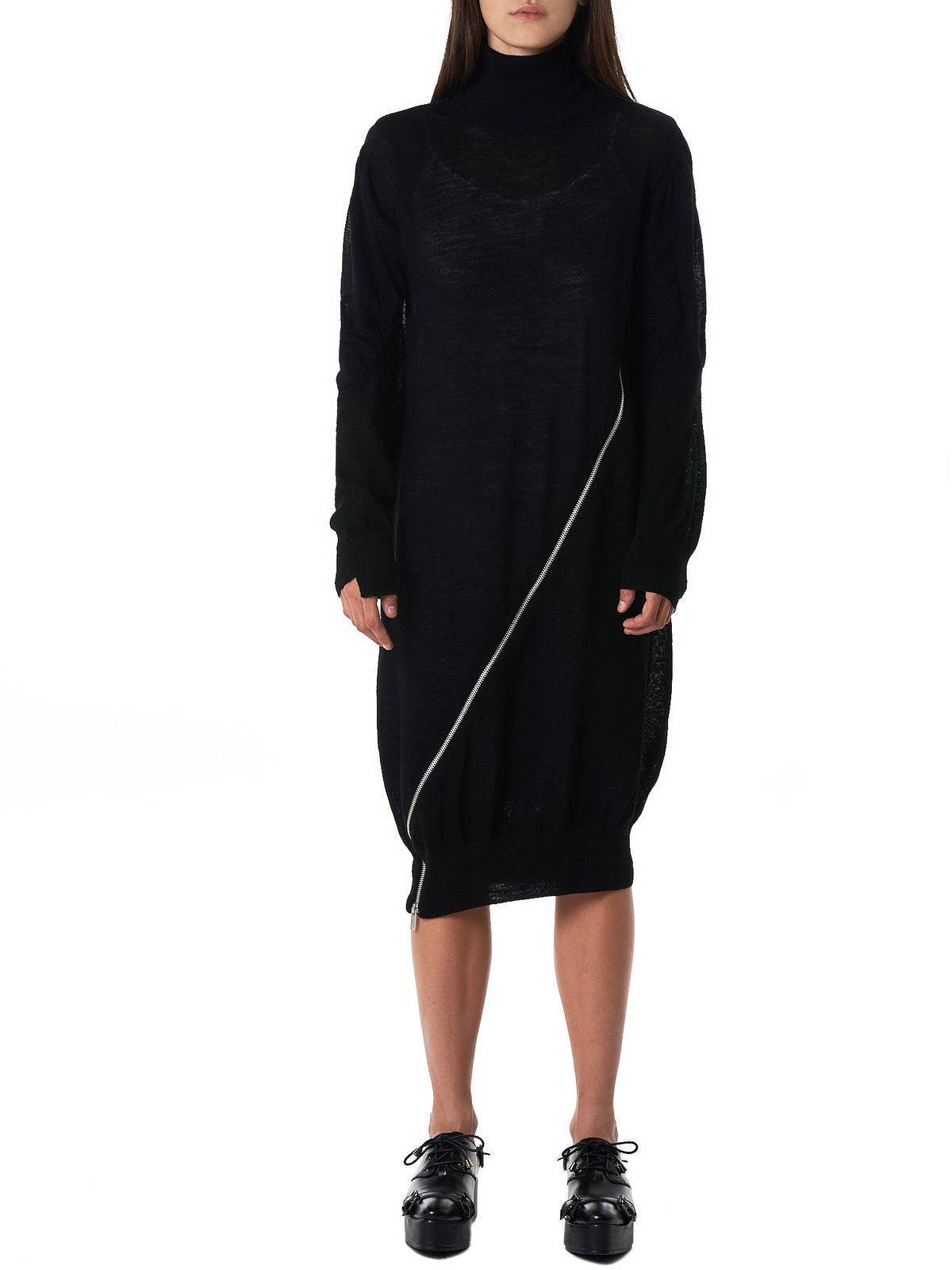 Sacai Turtleneck Dress - Hlorenzo Front
