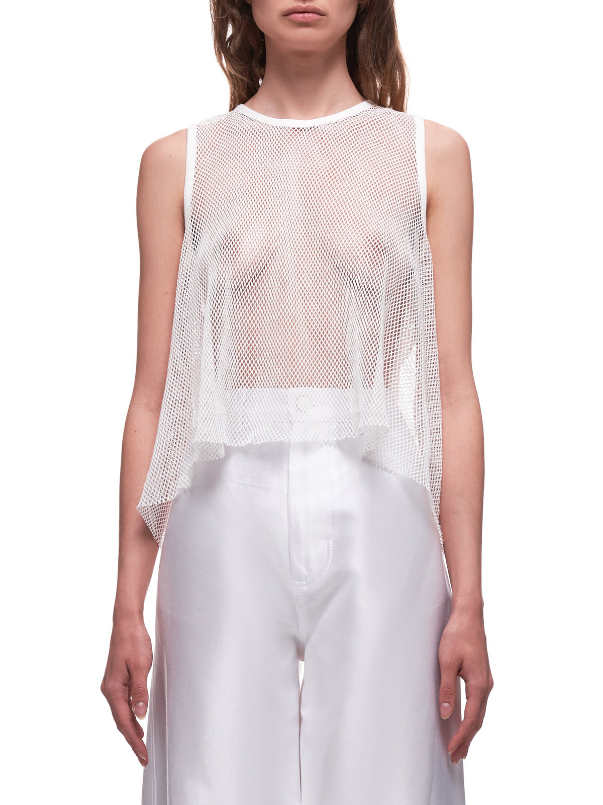 A-Line Mesh Top (18-A-LINE-WHITE-COTTON-NET)