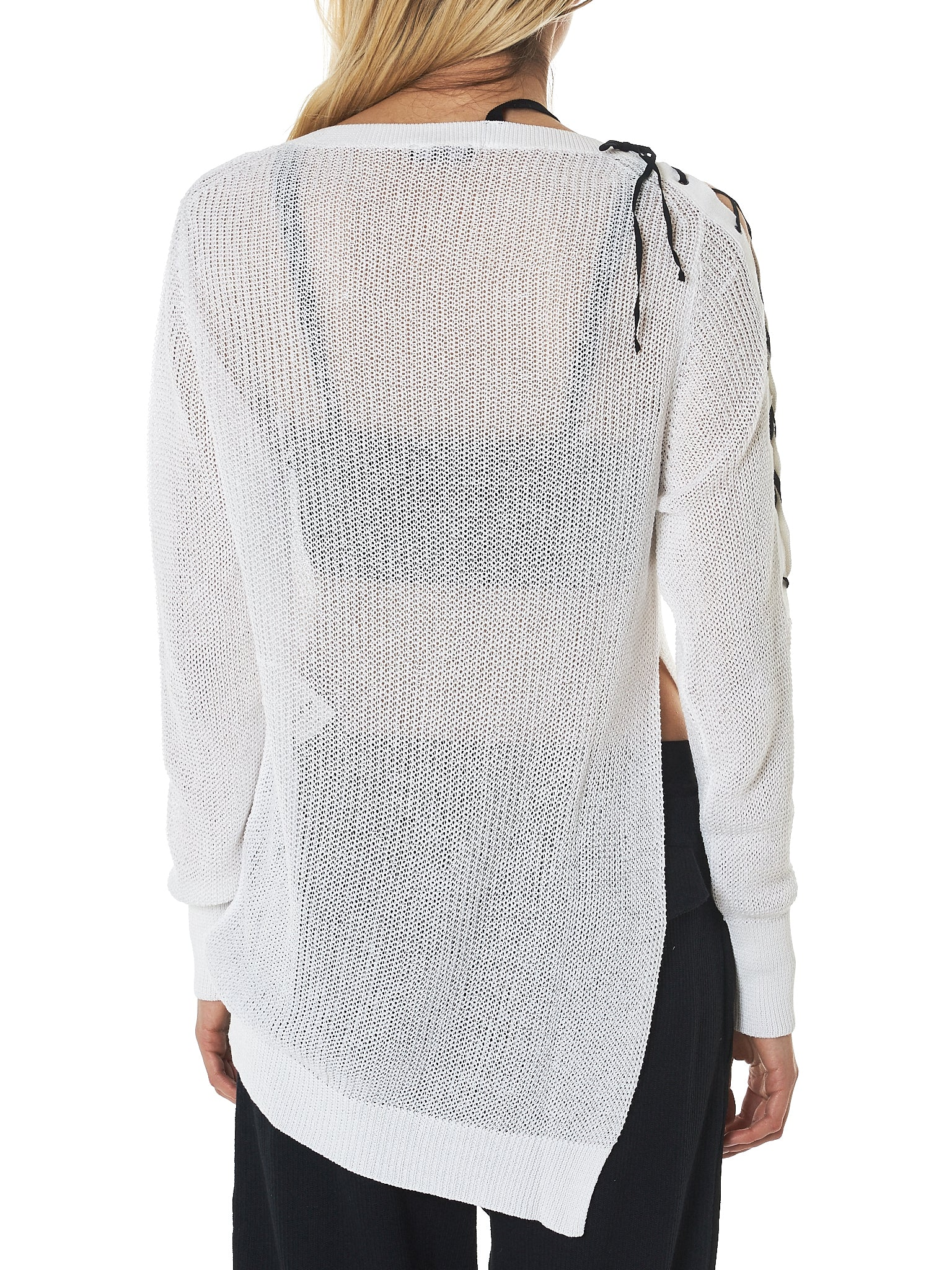 Ann Demeulemeester Lace-Up Cardigan - Hlorenzo Back