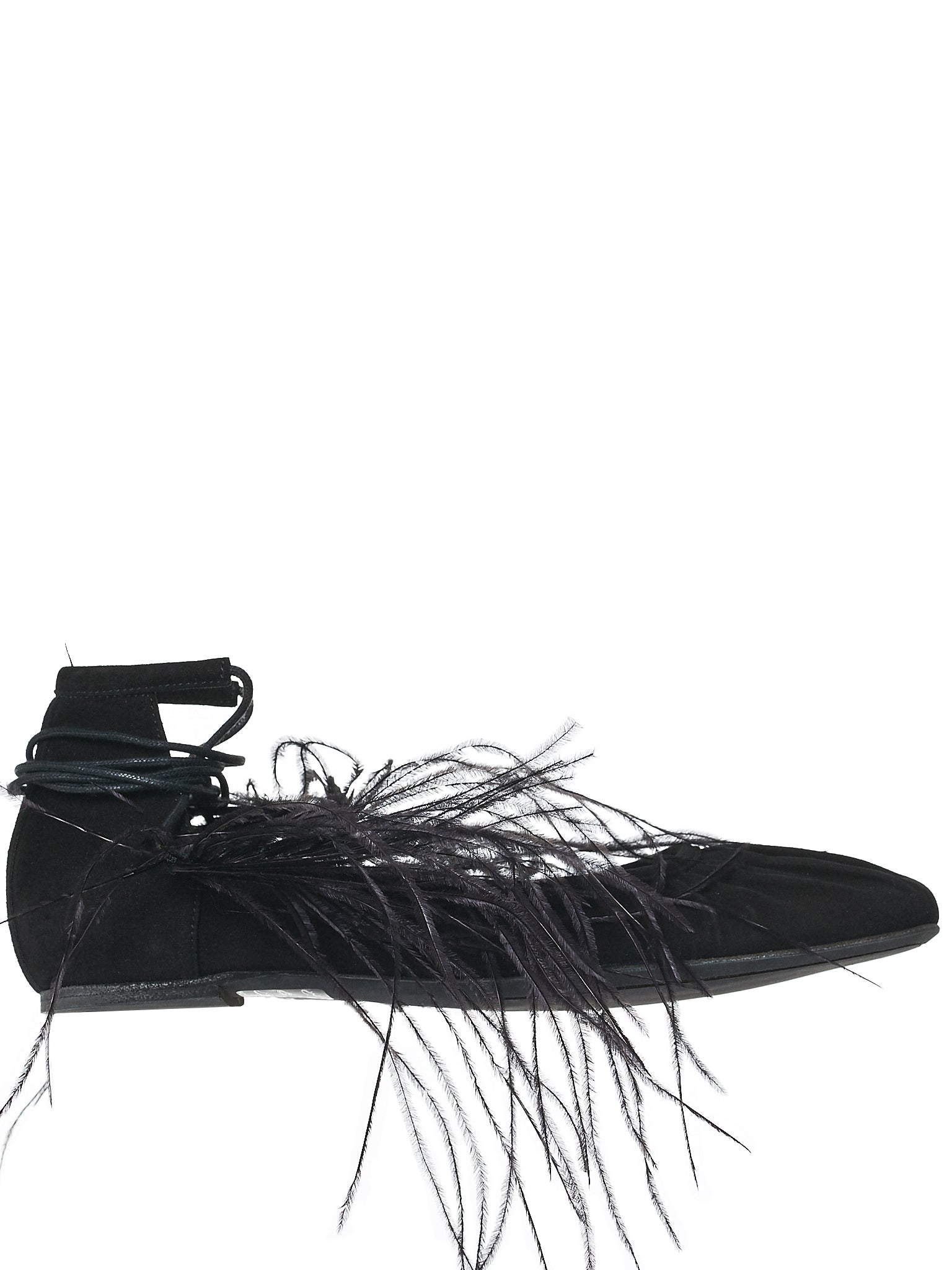 Ann Demeulemeester Feather Flats - Hlorenzo Front