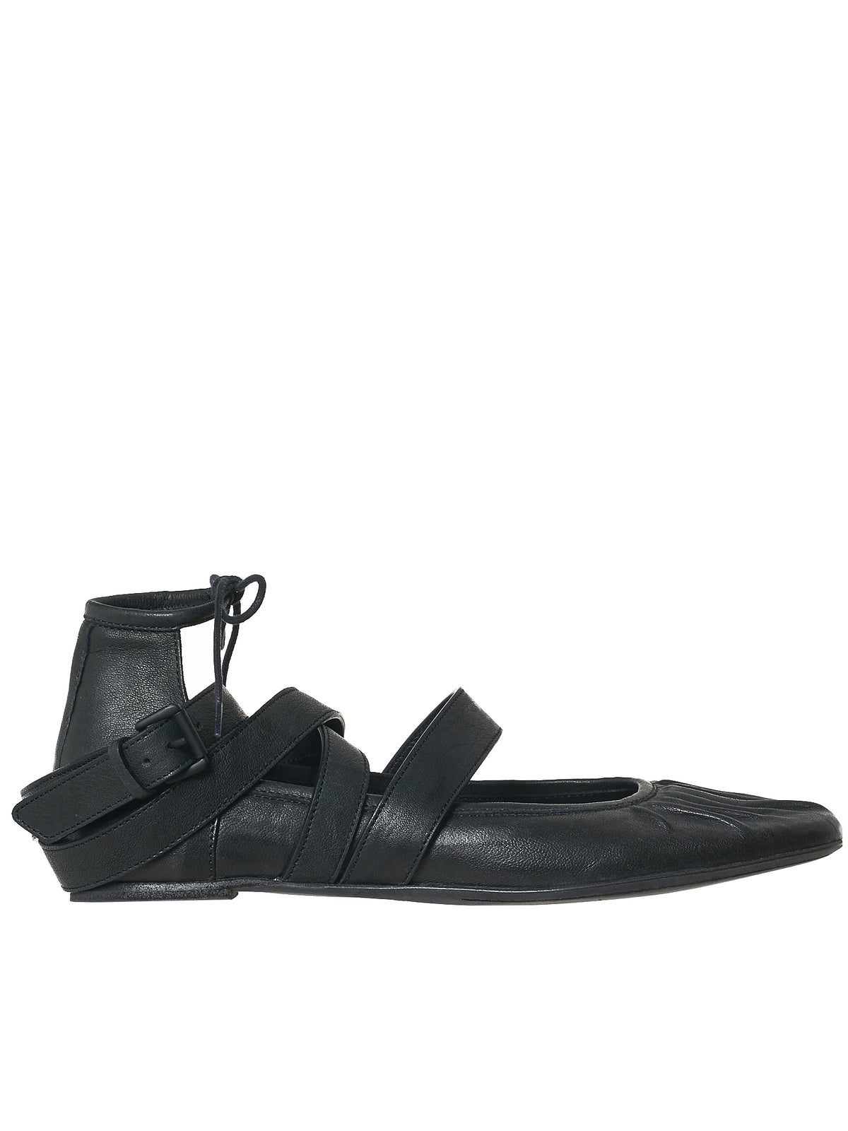 Ann Demeulemeester Leather Flats - Hlorenzo Front