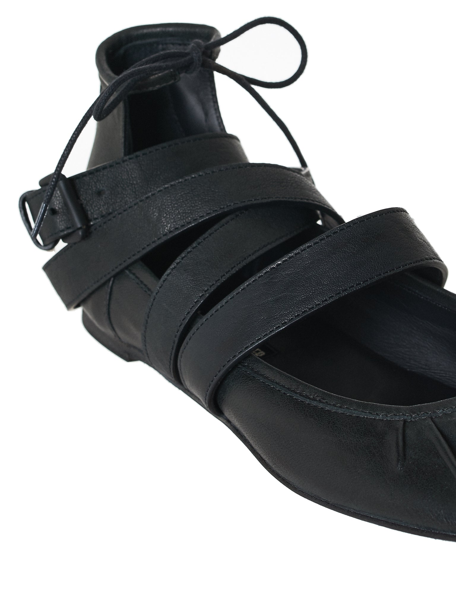 Ann Demeulemeester Leather Flats - Hlorenzo Detail 2