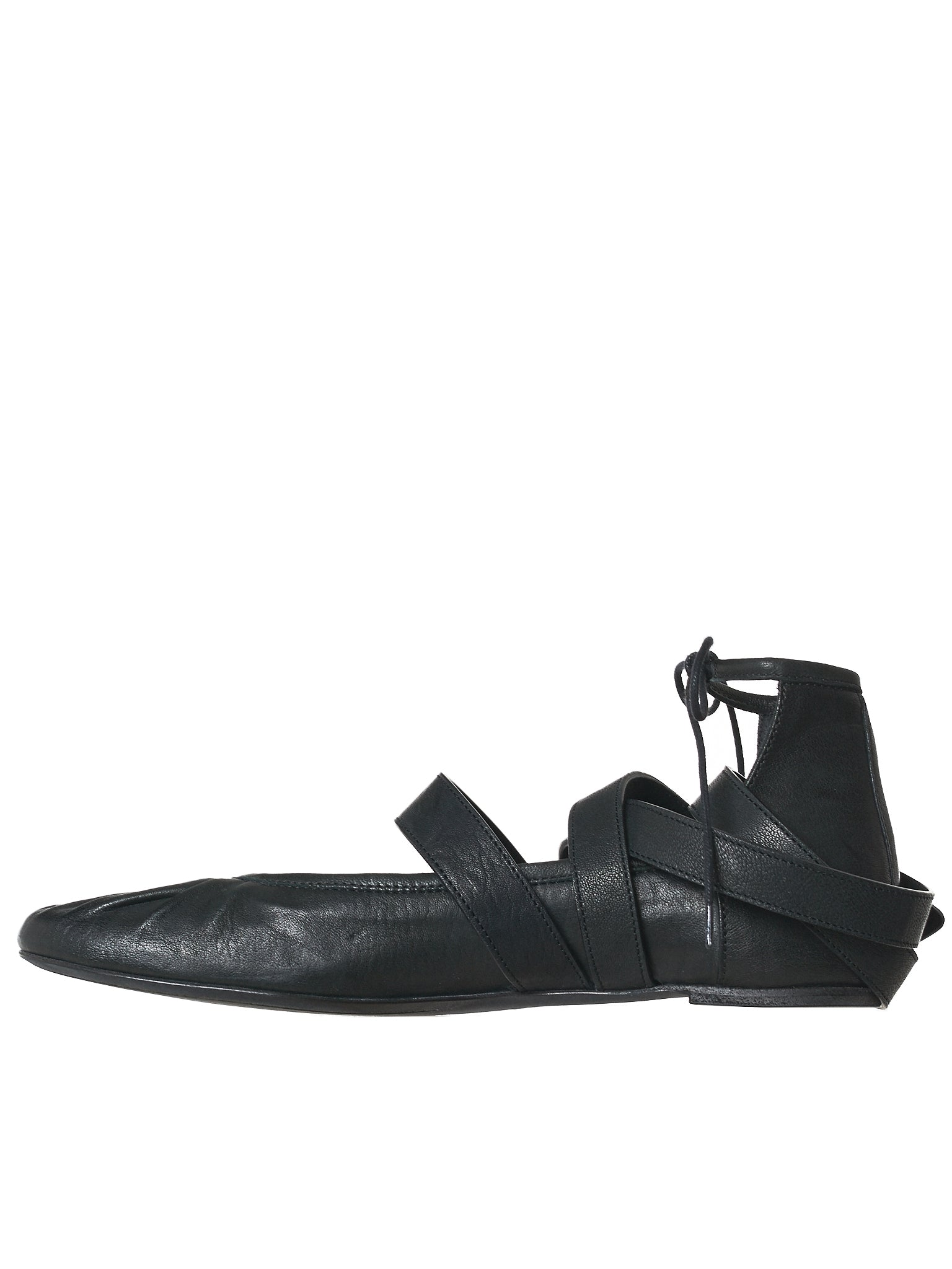 Ann Demeulemeester Leather Flats - Hlorenzo Back