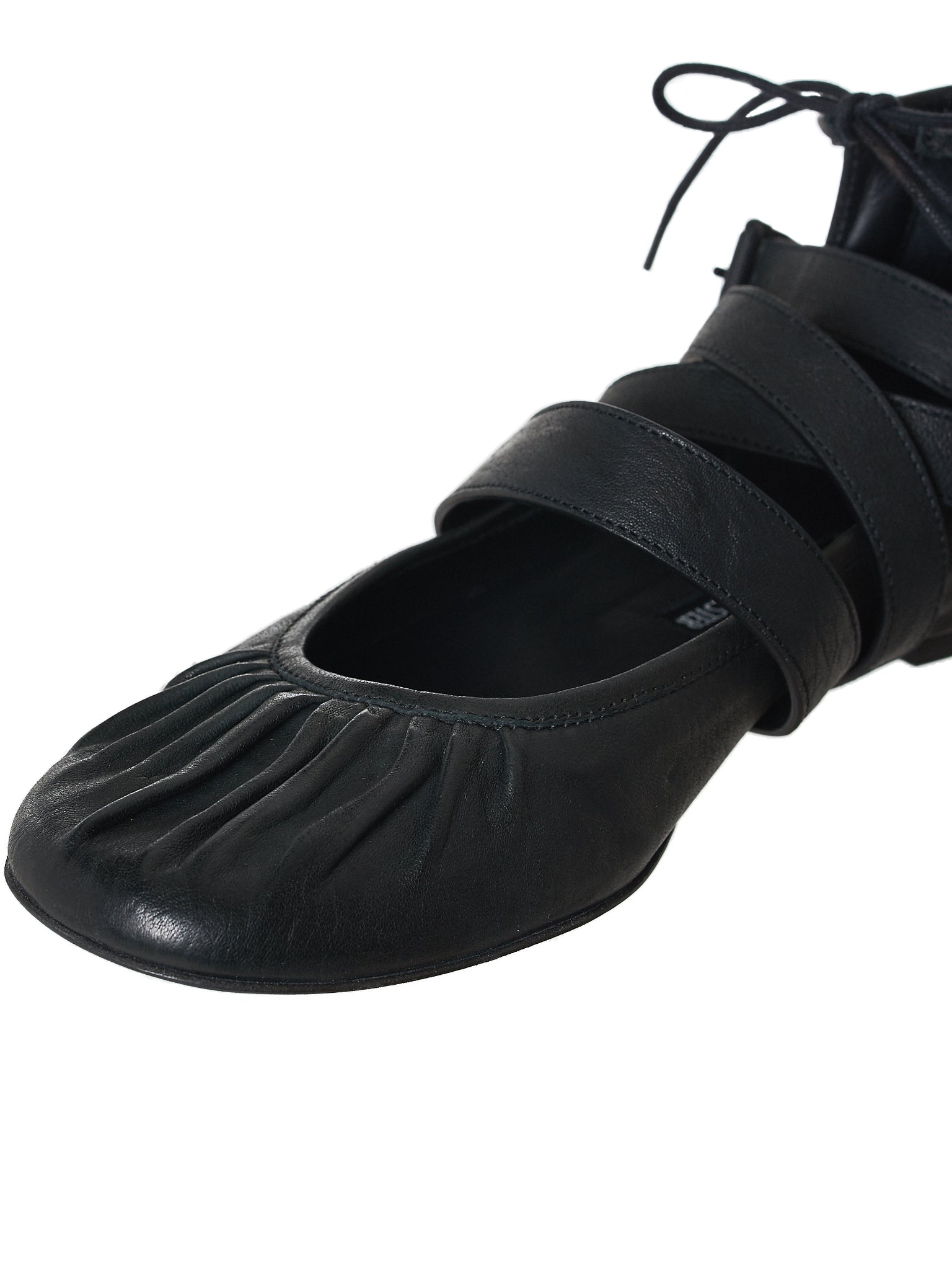 Ann Demeulemeester Leather Flats - Hlorenzo Detail 1