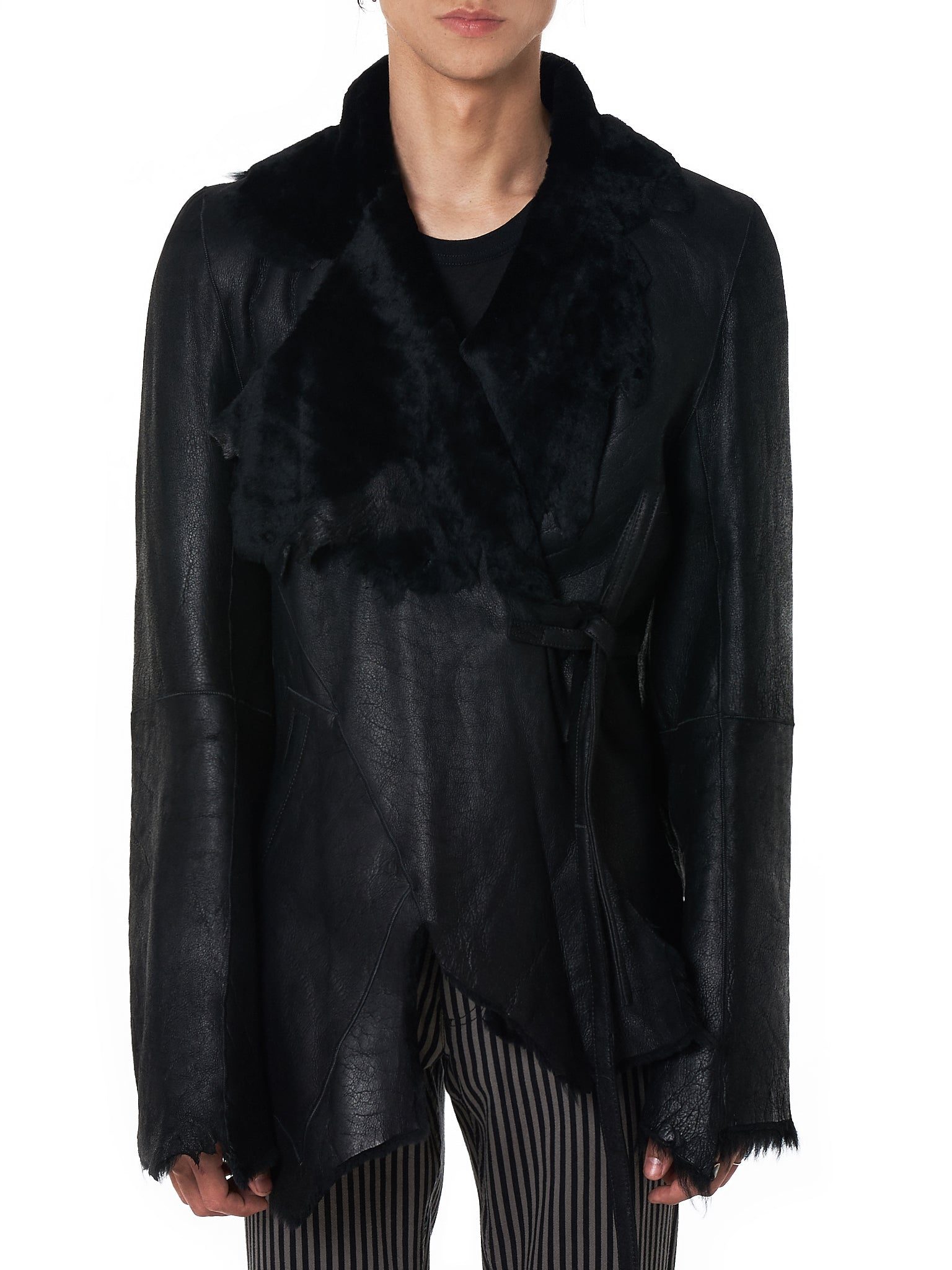 Ann Demeulemeester Leather Jacket - Hlorenzo Front