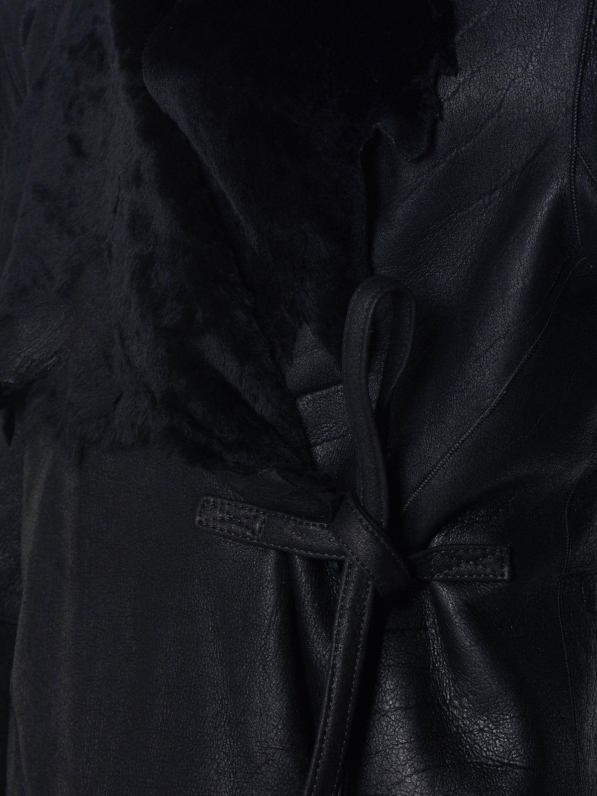 Ann Demeulemeester Leather Jacket - Hlorenzo Detail 2
