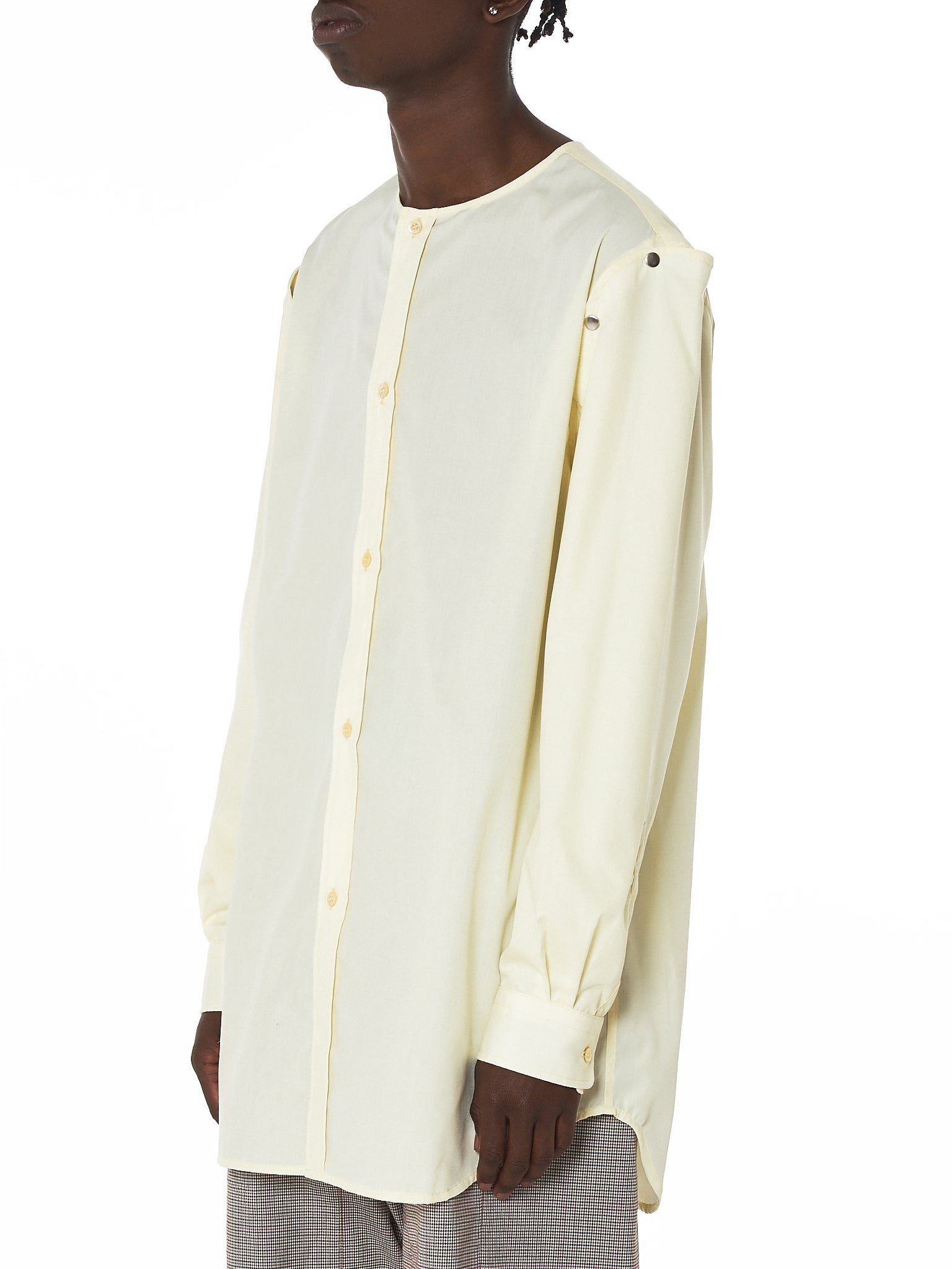 Raf Simons Deconstructed Shirt - Hlorenzo Side