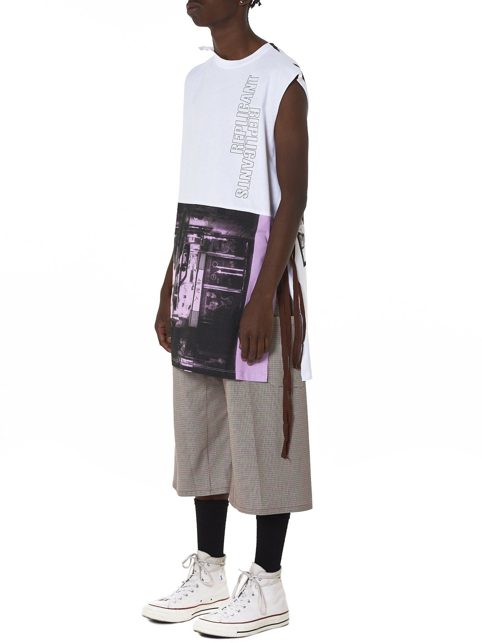 Raf Simons Sleeveless Tee - Hlorenzo Side
