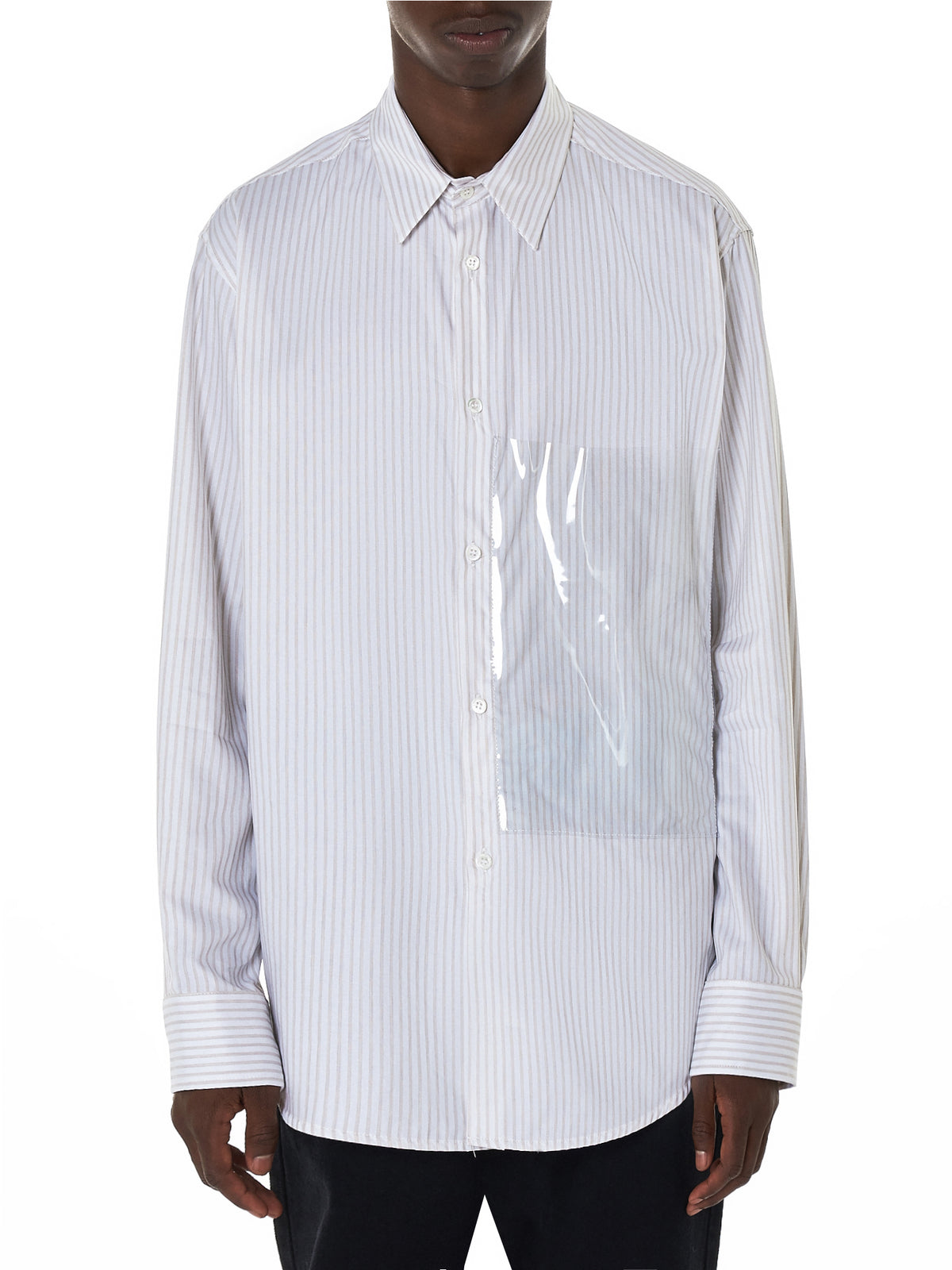 Striped Plastic Pocket Shirt (182-251A-10015-01062)