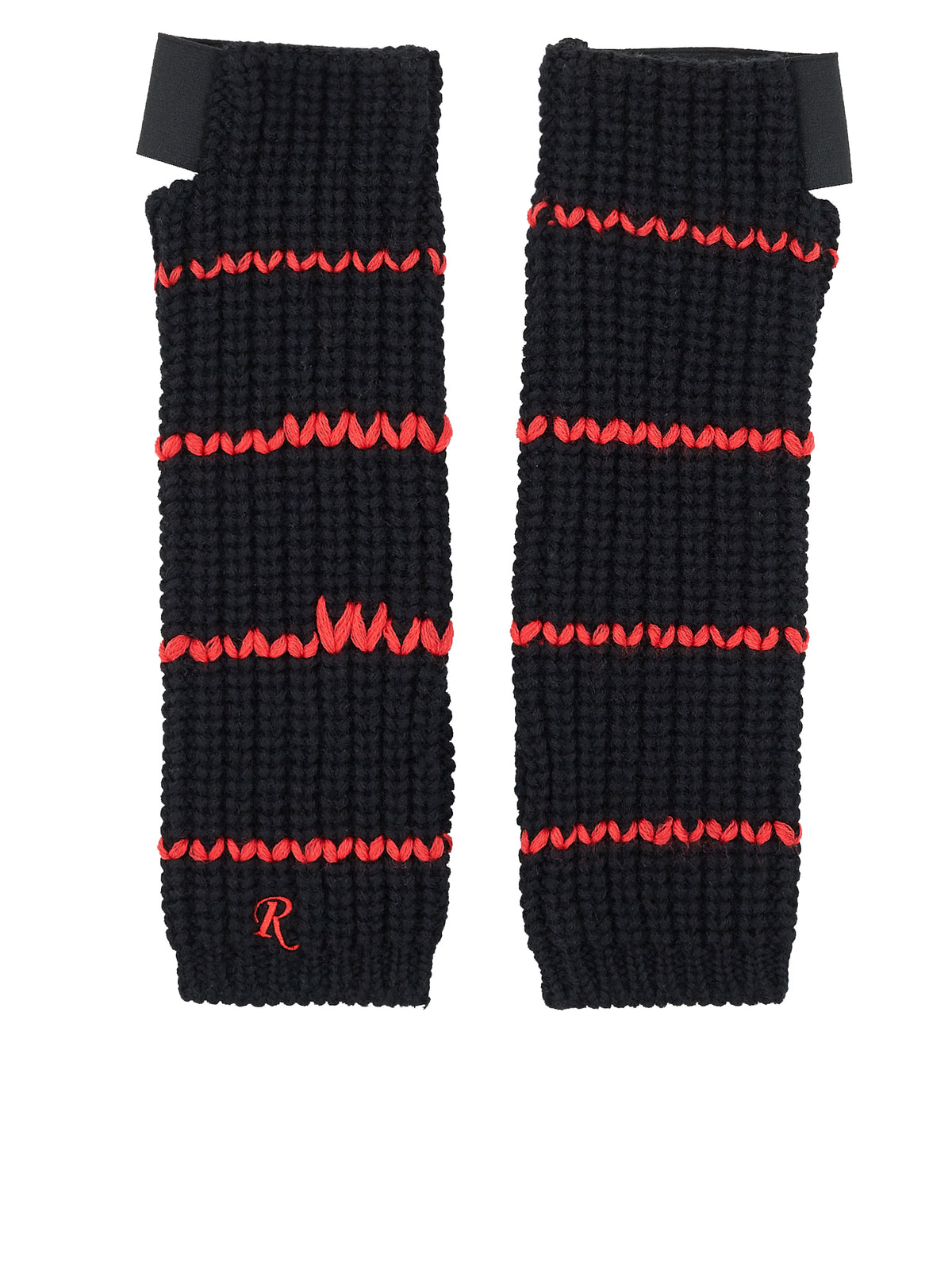 Knit Stripe Thumbhole Gloves (182-857-50002-09931)