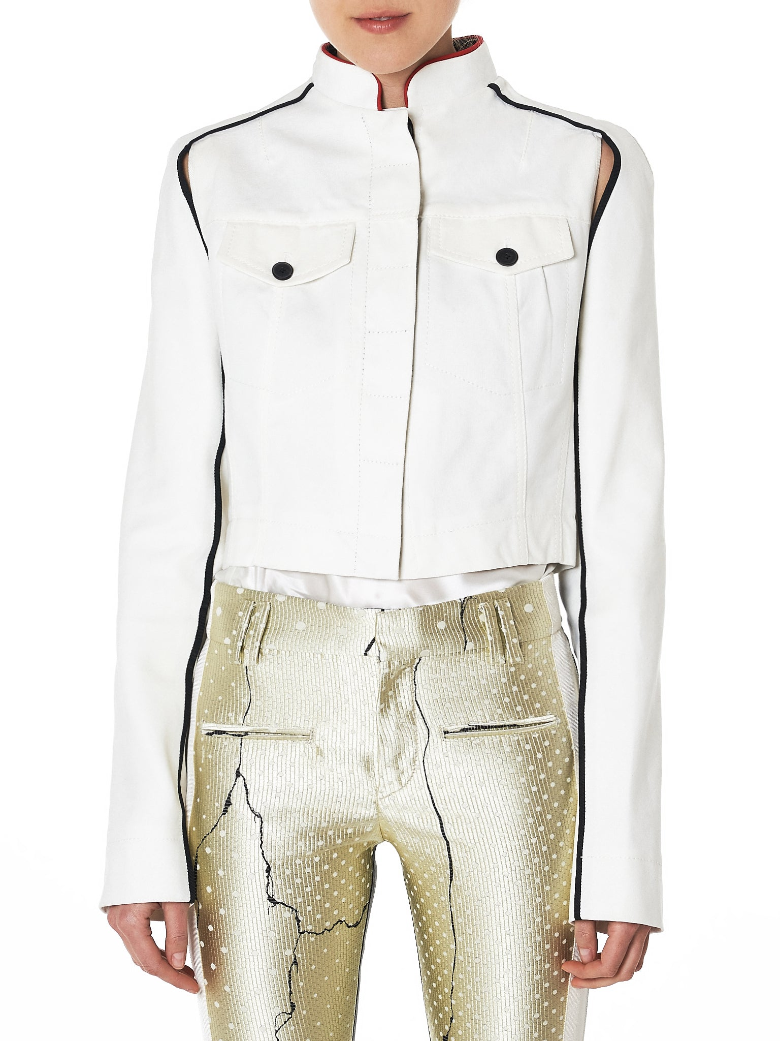 Haider Ackermann Cropped Denim Jacket - Hlorenzo Front
