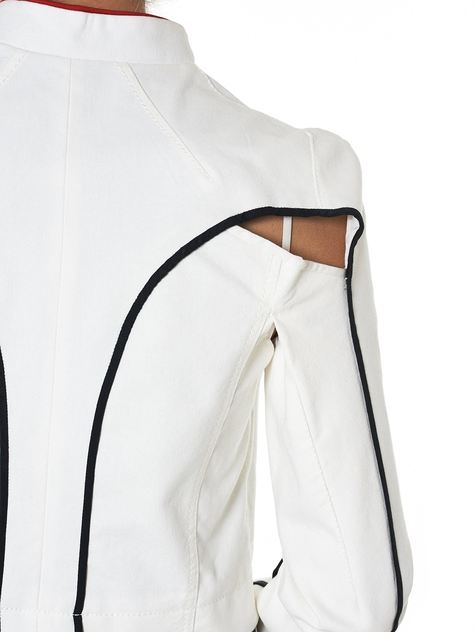 Haider Ackermann Cropped Denim Jacket - Hlorenzo Detail 2