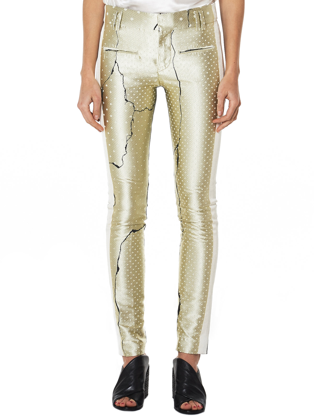 Haider Ackermann Leather Trouser - Hlorenzo Front