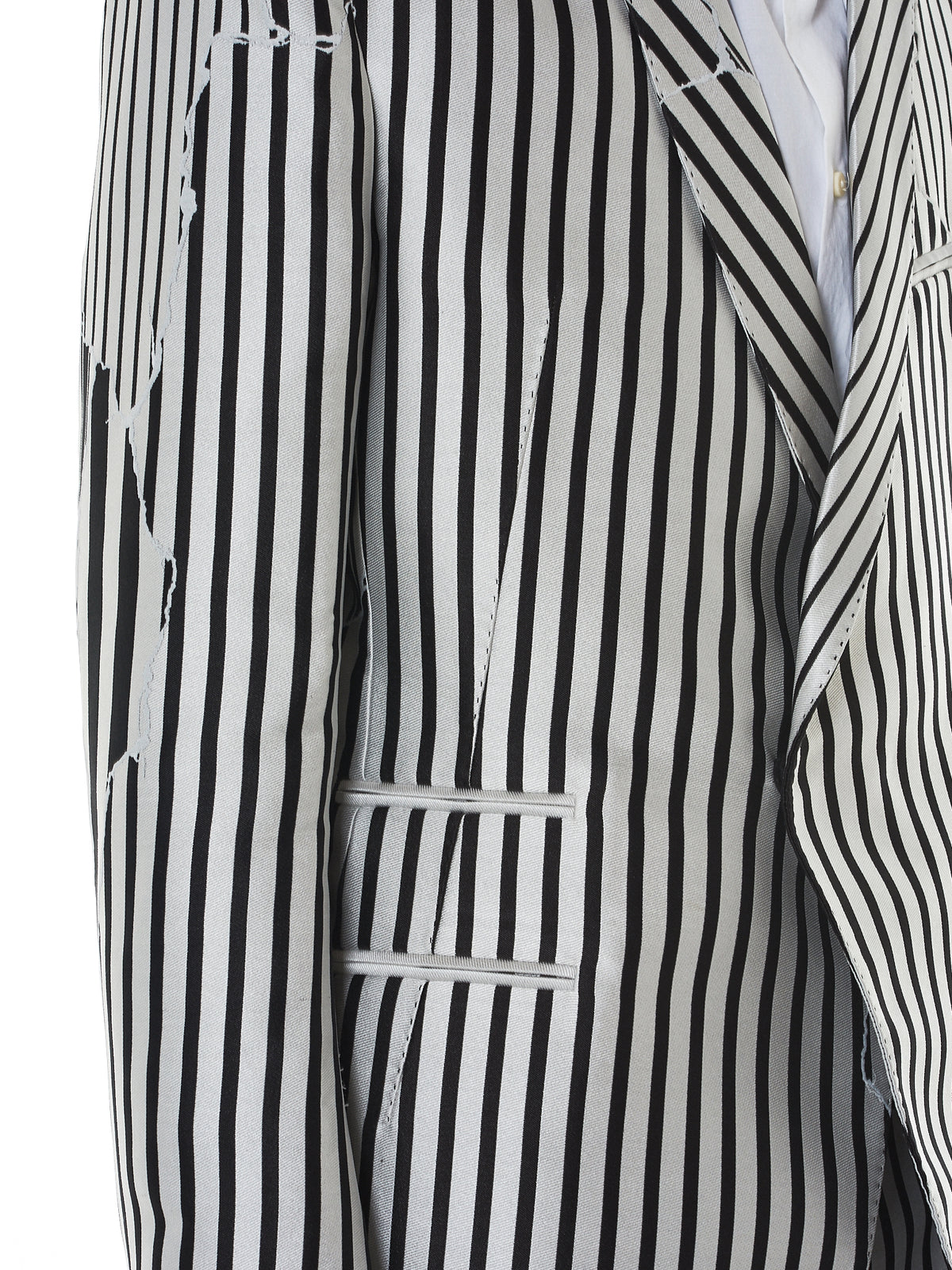 Haider Ackermann Striped Blazer - Hlorenzo Detail 2