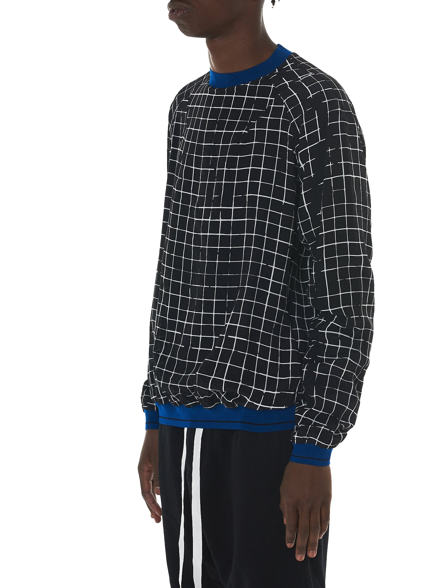Haider Ackermann Grid Check Sweater - Hlorenzo Side