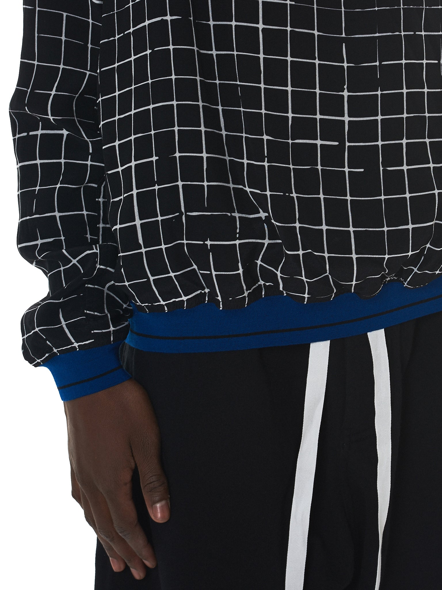 Haider Ackermann Grid Check Sweater - Hlorenzo Detail 1