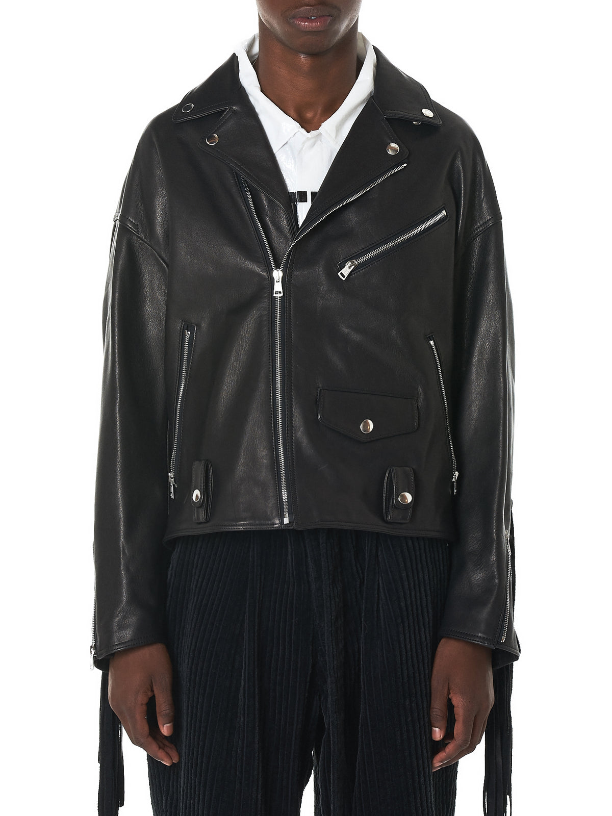 Doublet Leather Jacket - Hlorenzo Front