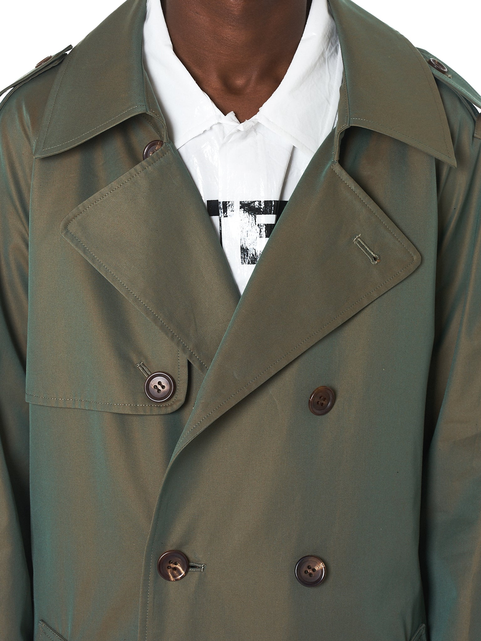 Doublet Trench Coat - Hlorenzo Front Detail