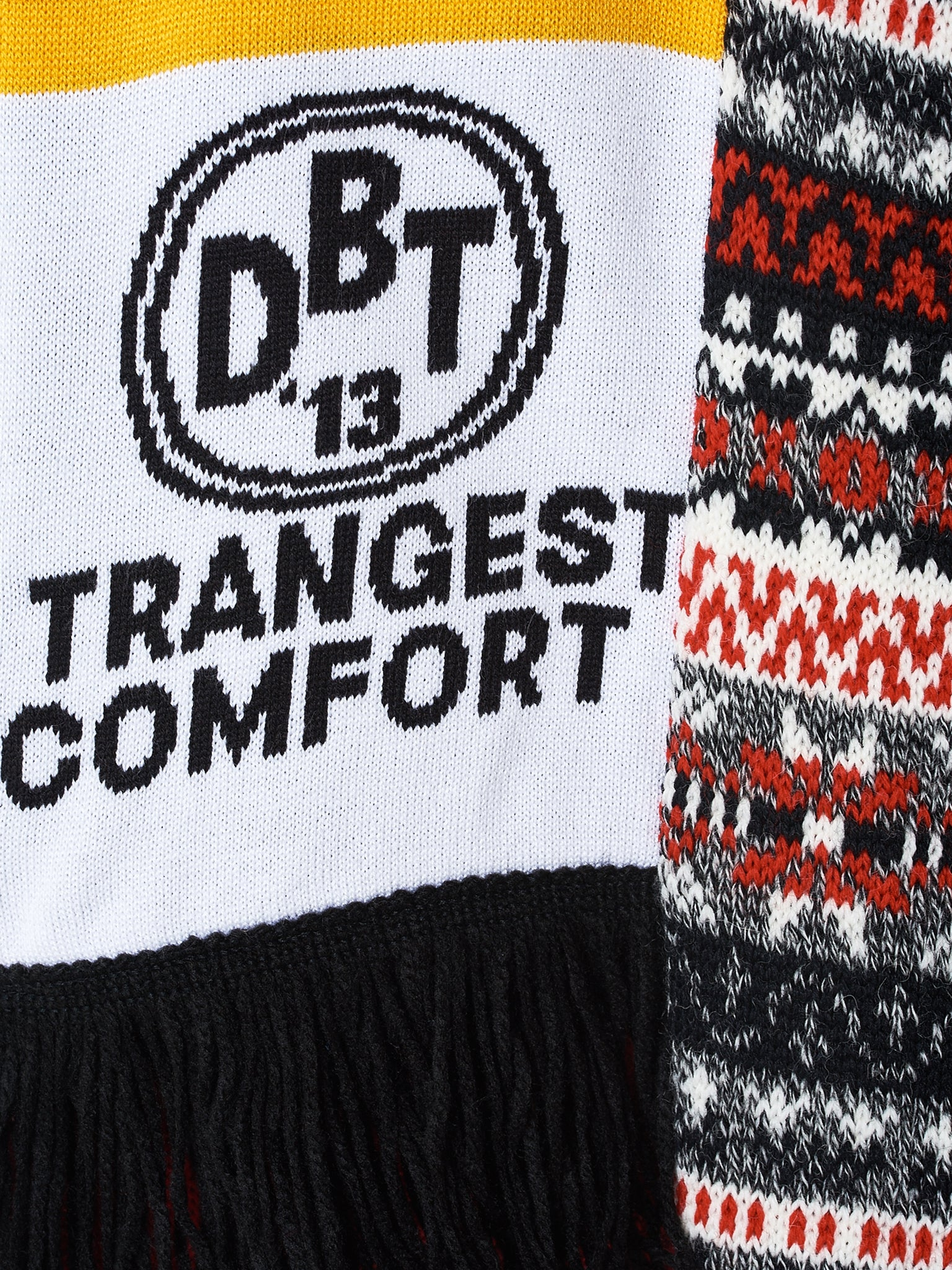 'Strangest Comfort' Scarf  (18AW36KN22-WHITE)