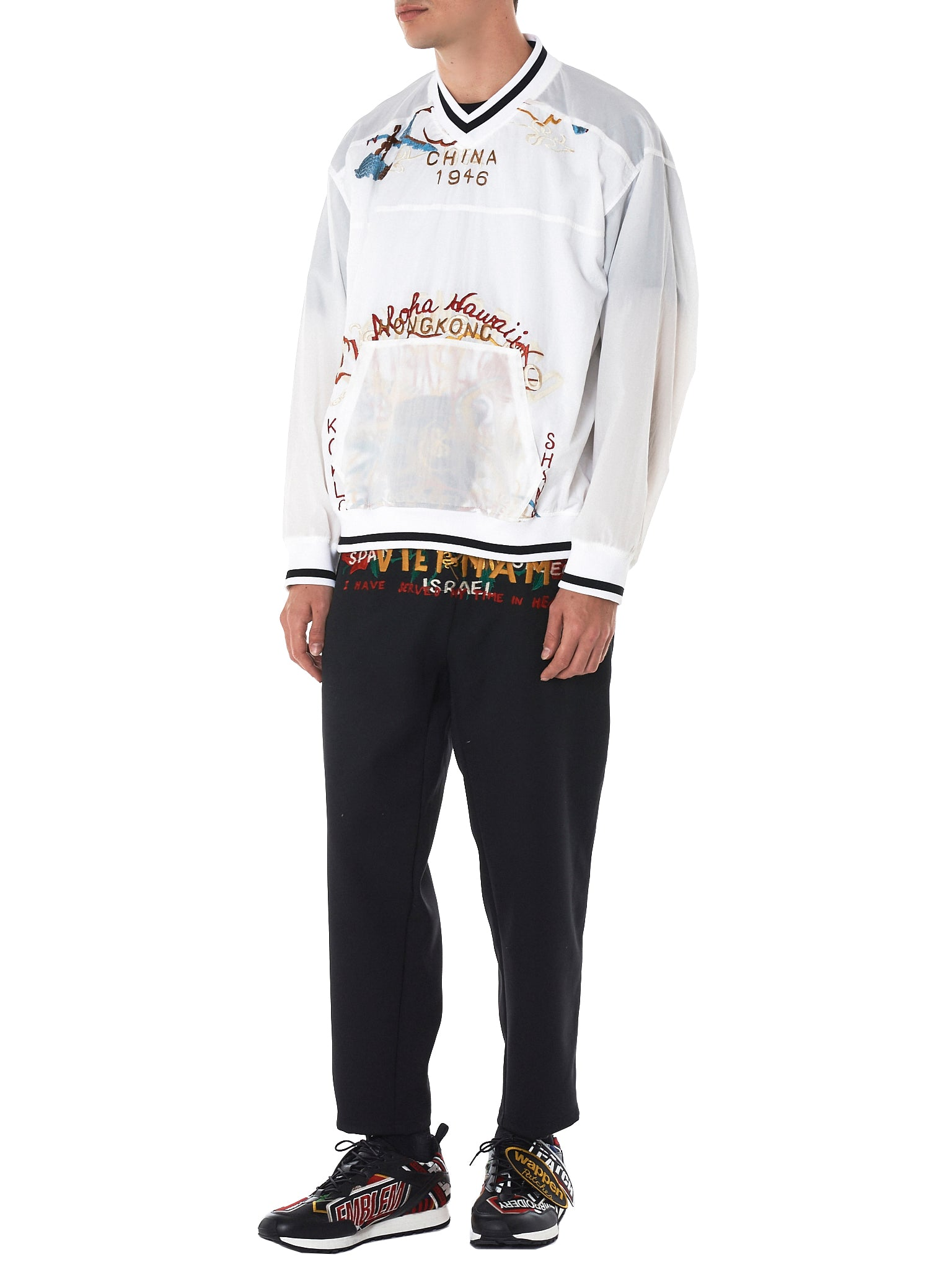 Embroidery Nylon Pullover (18SS-06SH46-WHITE)