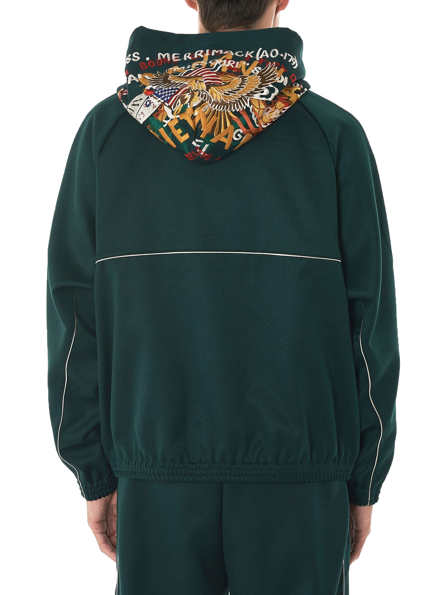 Embroidery Raglan Hoodie (18SS-14BL65-GREEN)