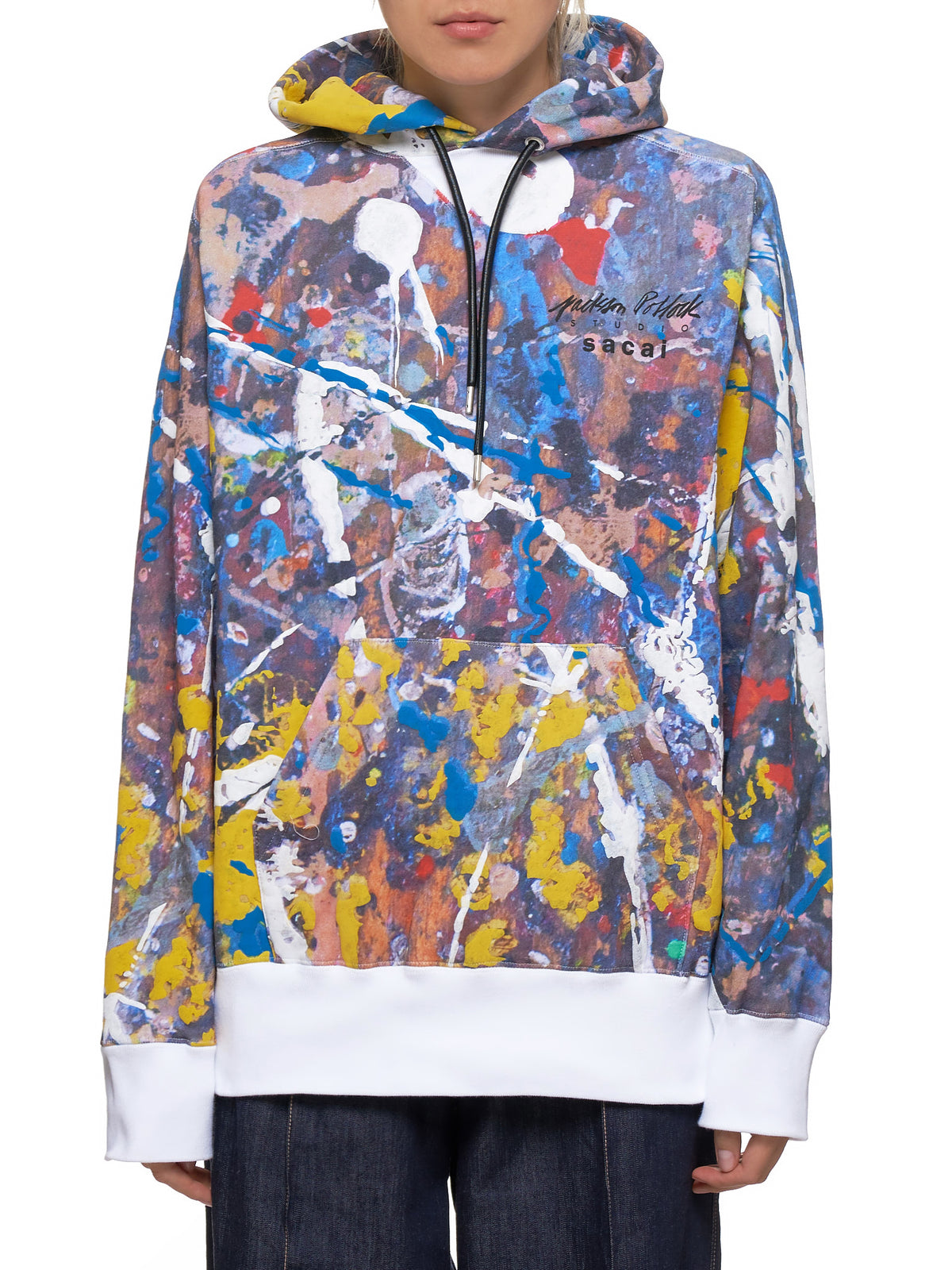 Splattered Paint Hoodie (19-0043S-WHITE-MINT)