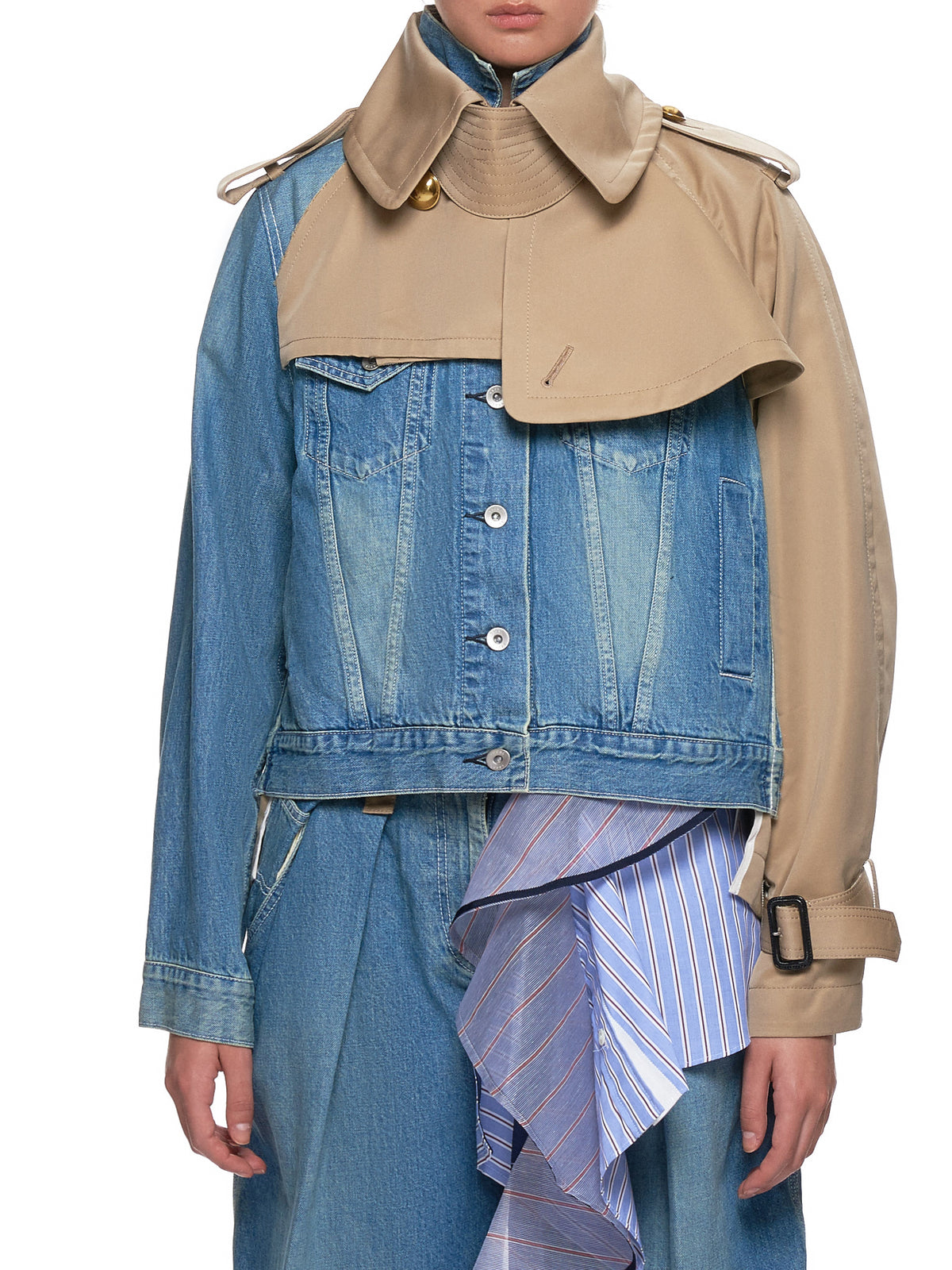 Split Jacket (19-04474-LIGHT-BLUE-BEIGE)