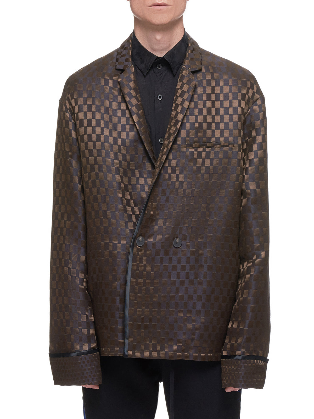 Pyjama Jacket (193-3008-140-027-BROWN)