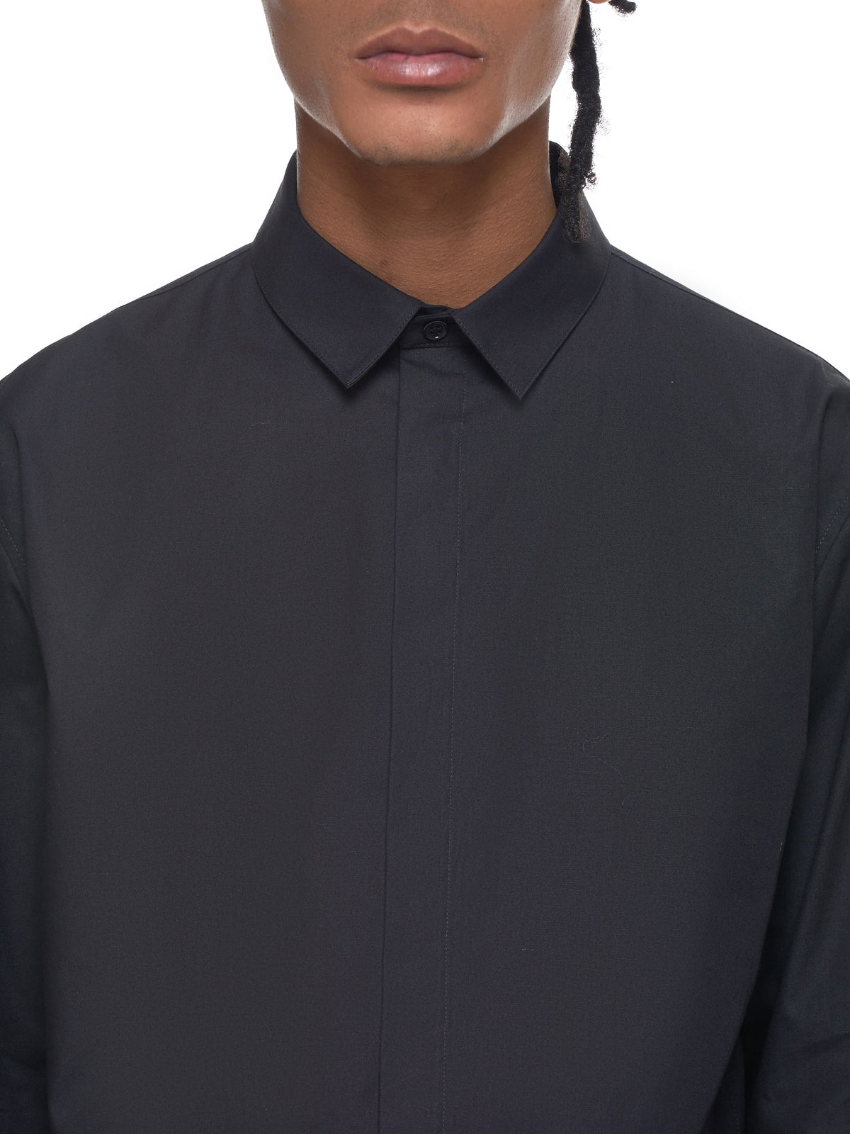 Haider Ackermann Black Shirt - Hlorenzo Detail 2