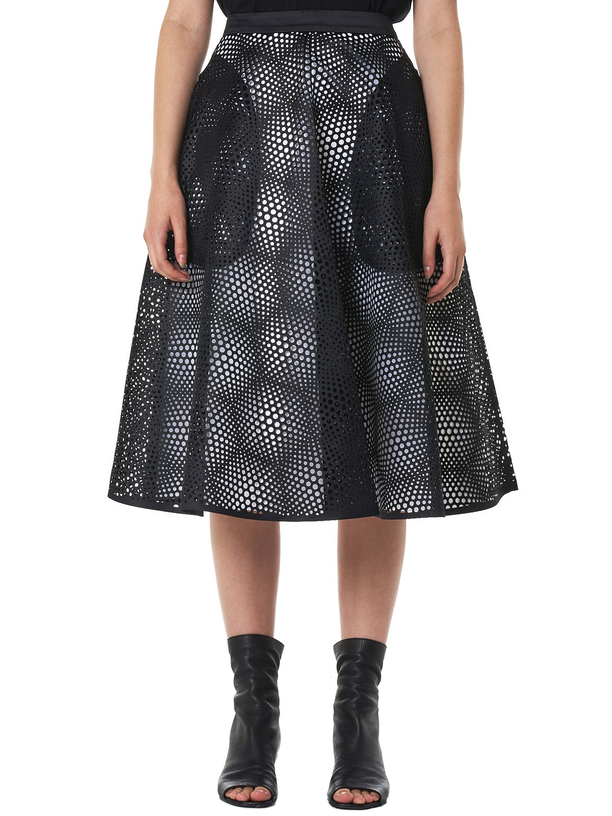Triple Layer 'Illusion' Skirt (1938-BLACK-WHITE)