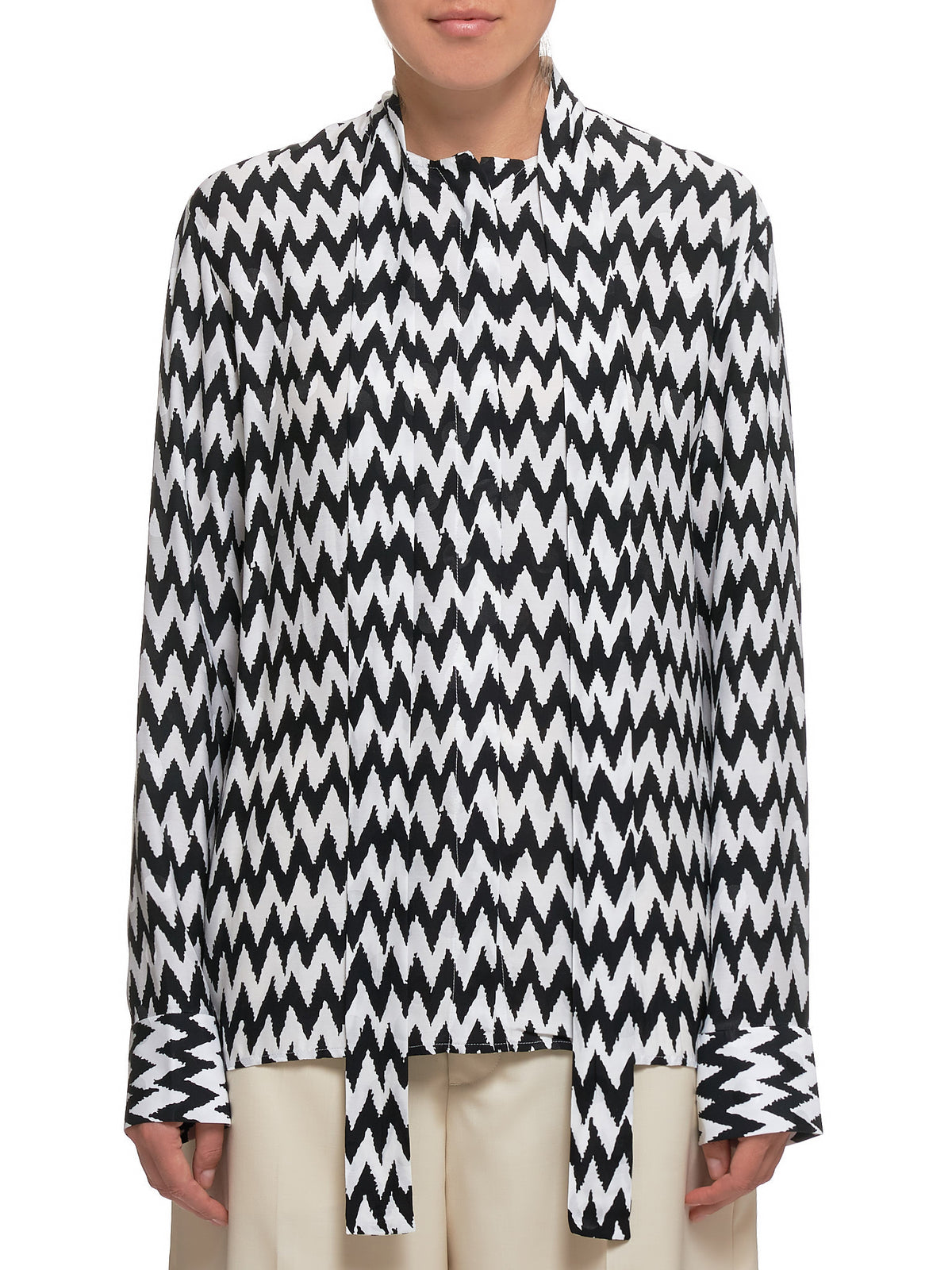 Shawl Collar Shirt (194-2004-140-011-CHEVRON)