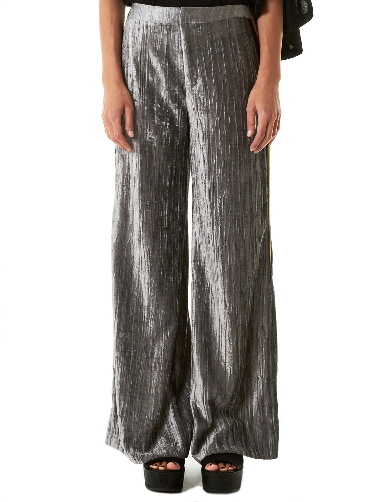Striped Velvet Trousers (19S88002-11) - H. Lorenzo