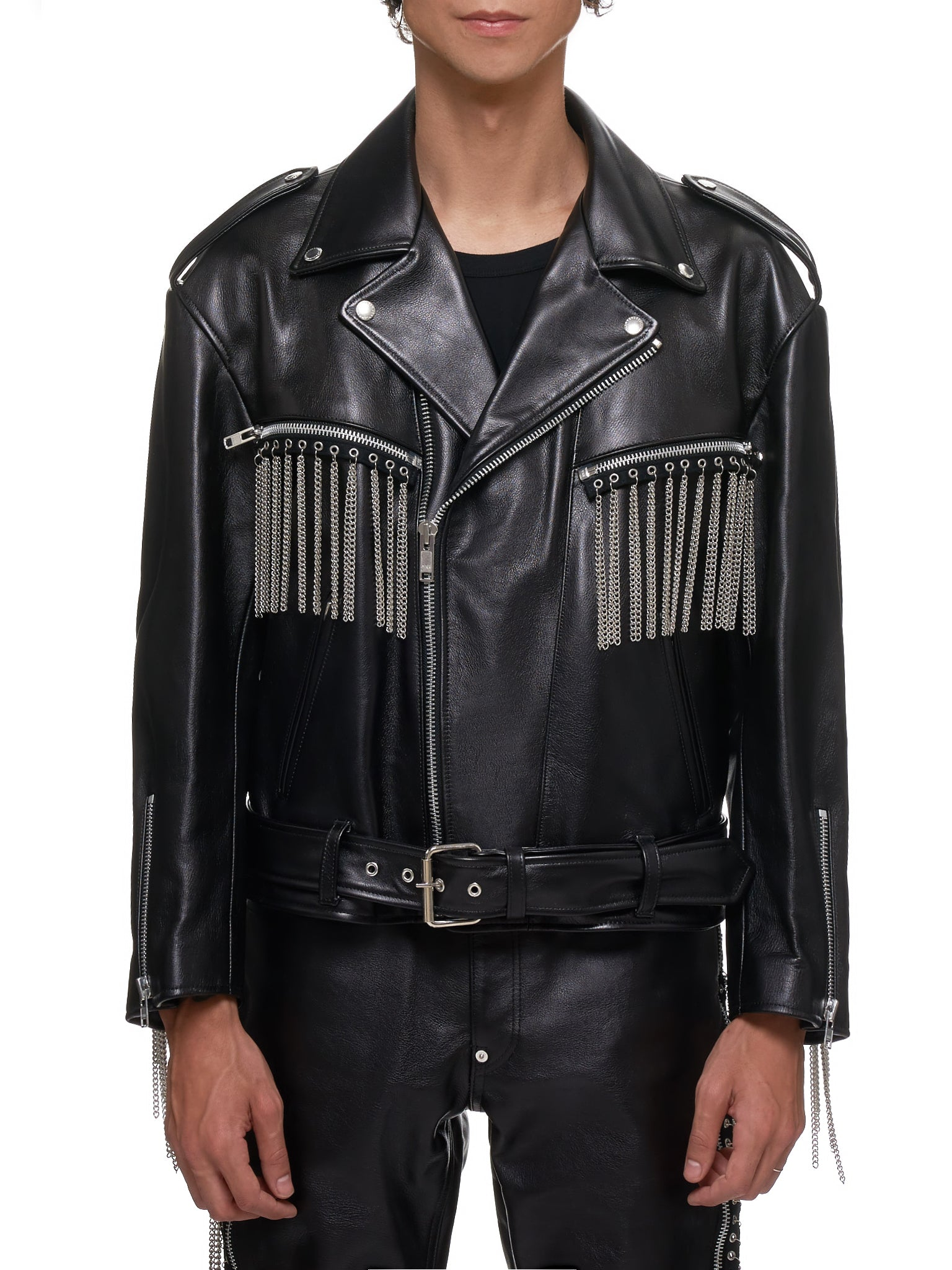 John Lawrence Sullivan Leather Jacket - Hlorenzo Front