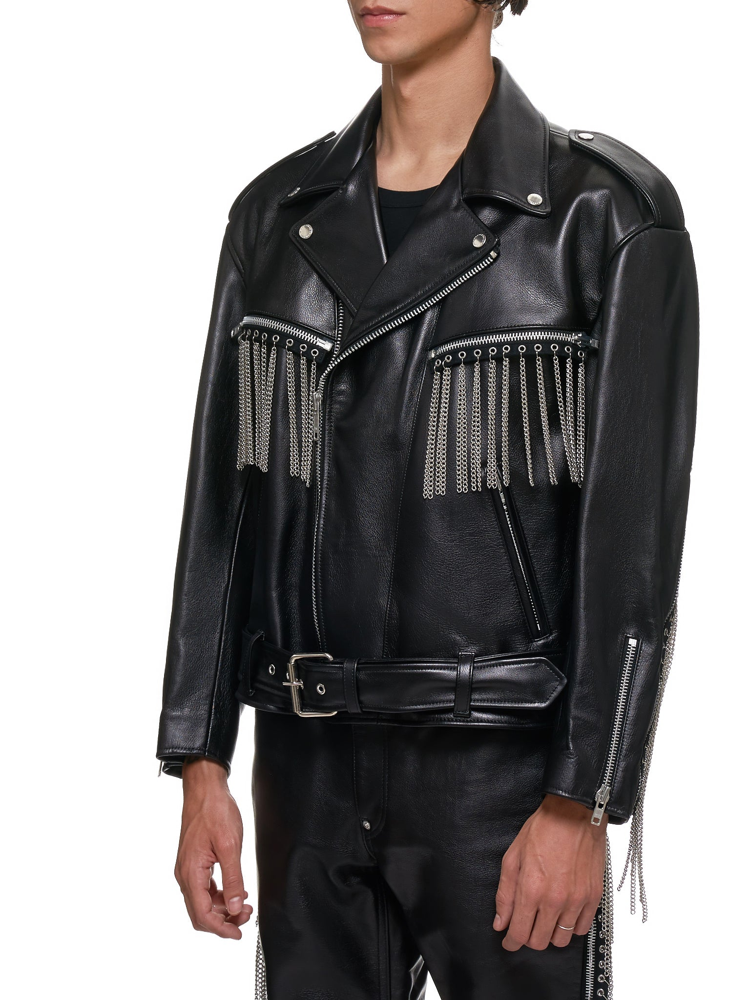 John Lawrence Sullivan Leather Jacket - Hlorenzo Side