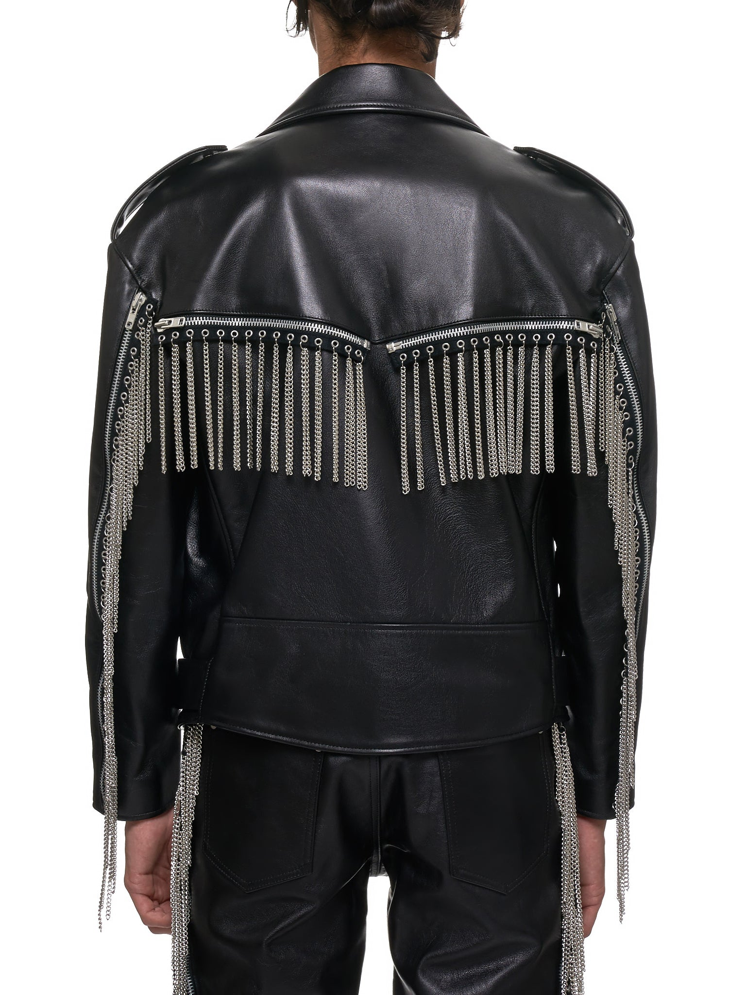 John Lawrence Sullivan Leather Jacket - Hlorenzo Back