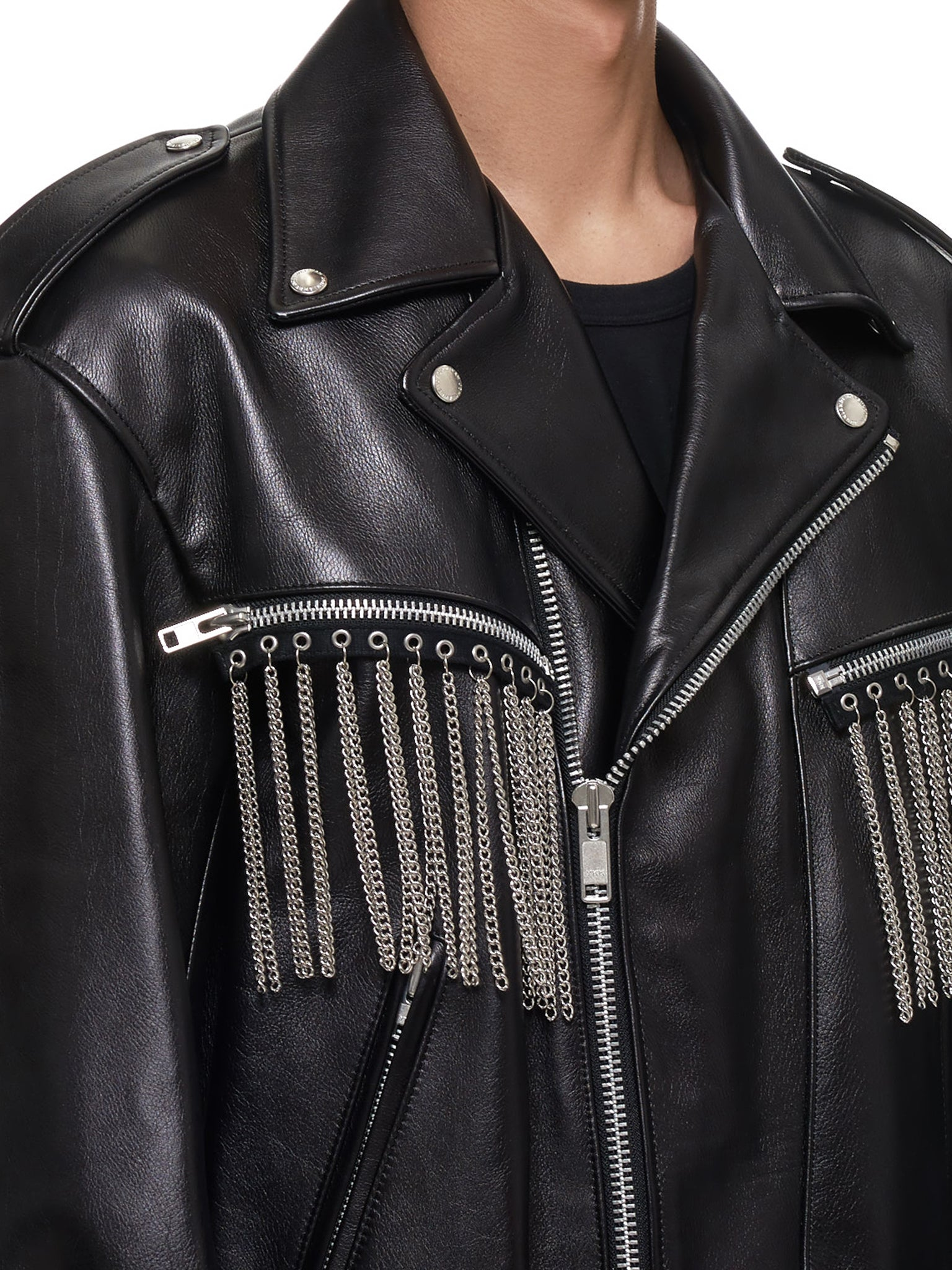 John Lawrence Sullivan Leather Jacket - Hlorenzo Detail 2