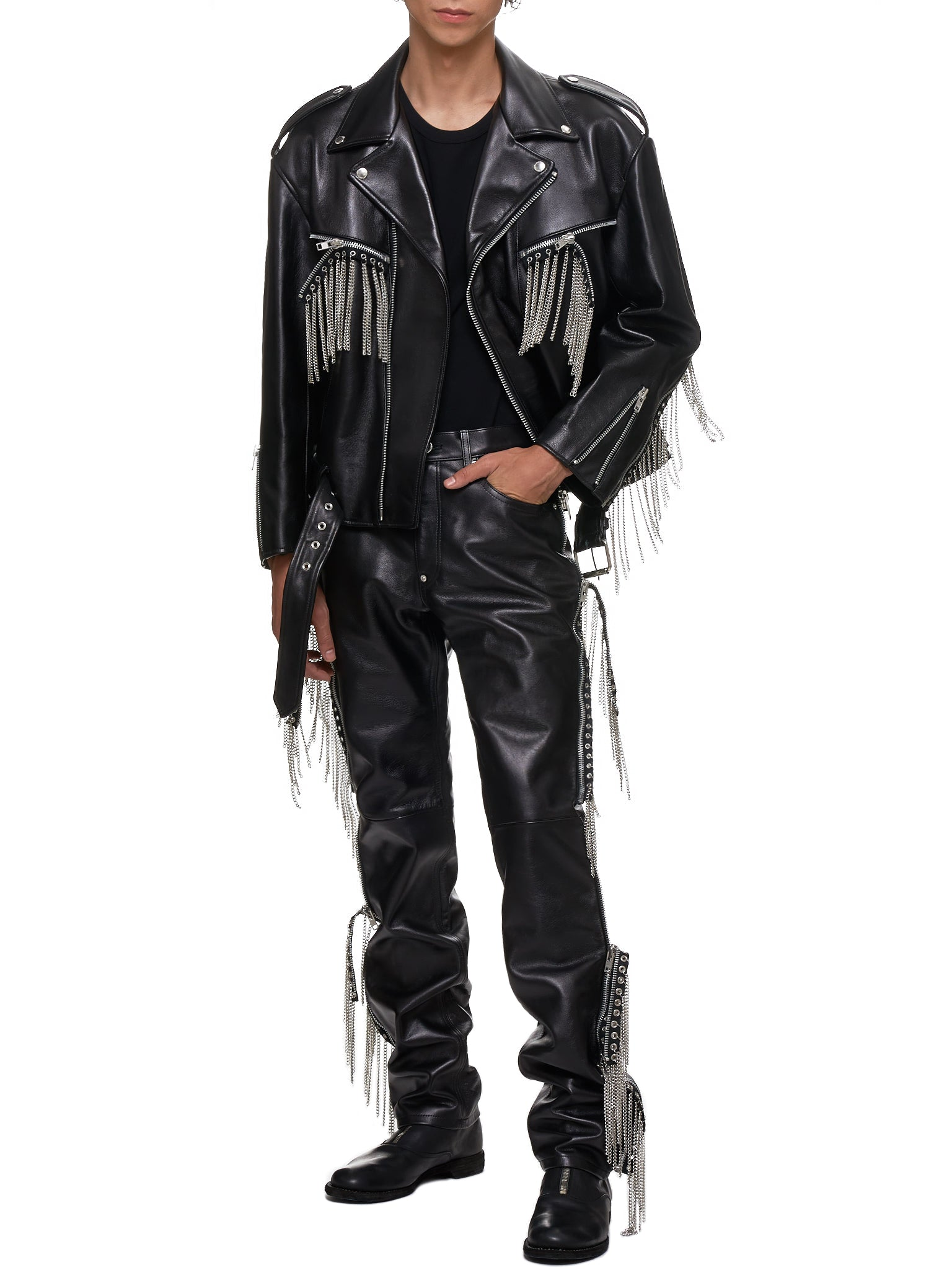John Lawrence Sullivan Leather Pants - Hlorenzo Style
