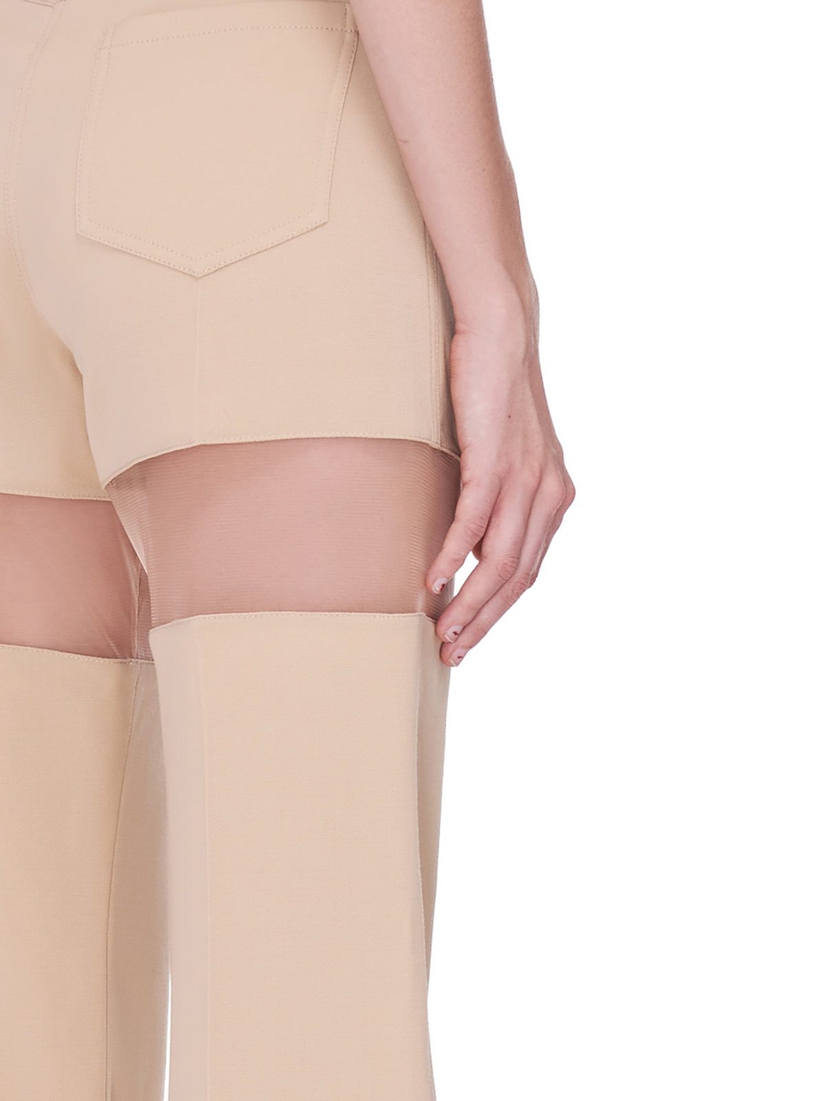 Segmented Trousers (1PA0331180-BEIGE-NUDE)