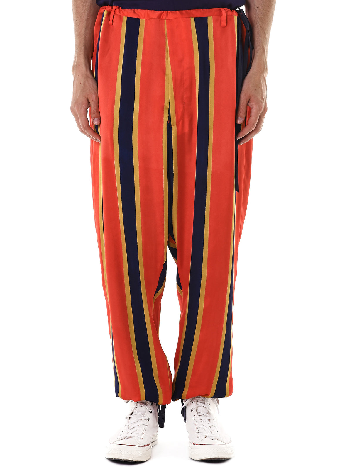 Relaxed Striped Trouser (17SSB-PT03-RED) - H. Lorenzo