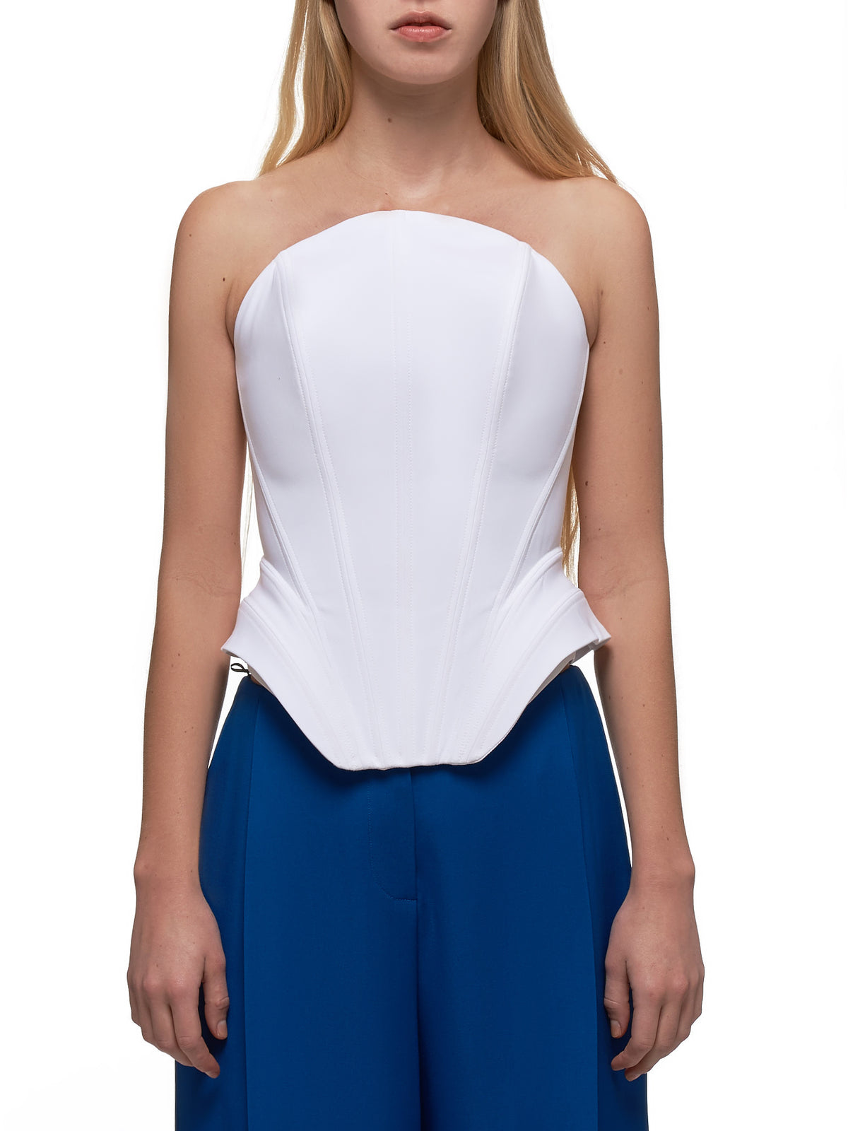 Sleeveless Peplum Top (1T00495245-1003-OFF-WHITE)