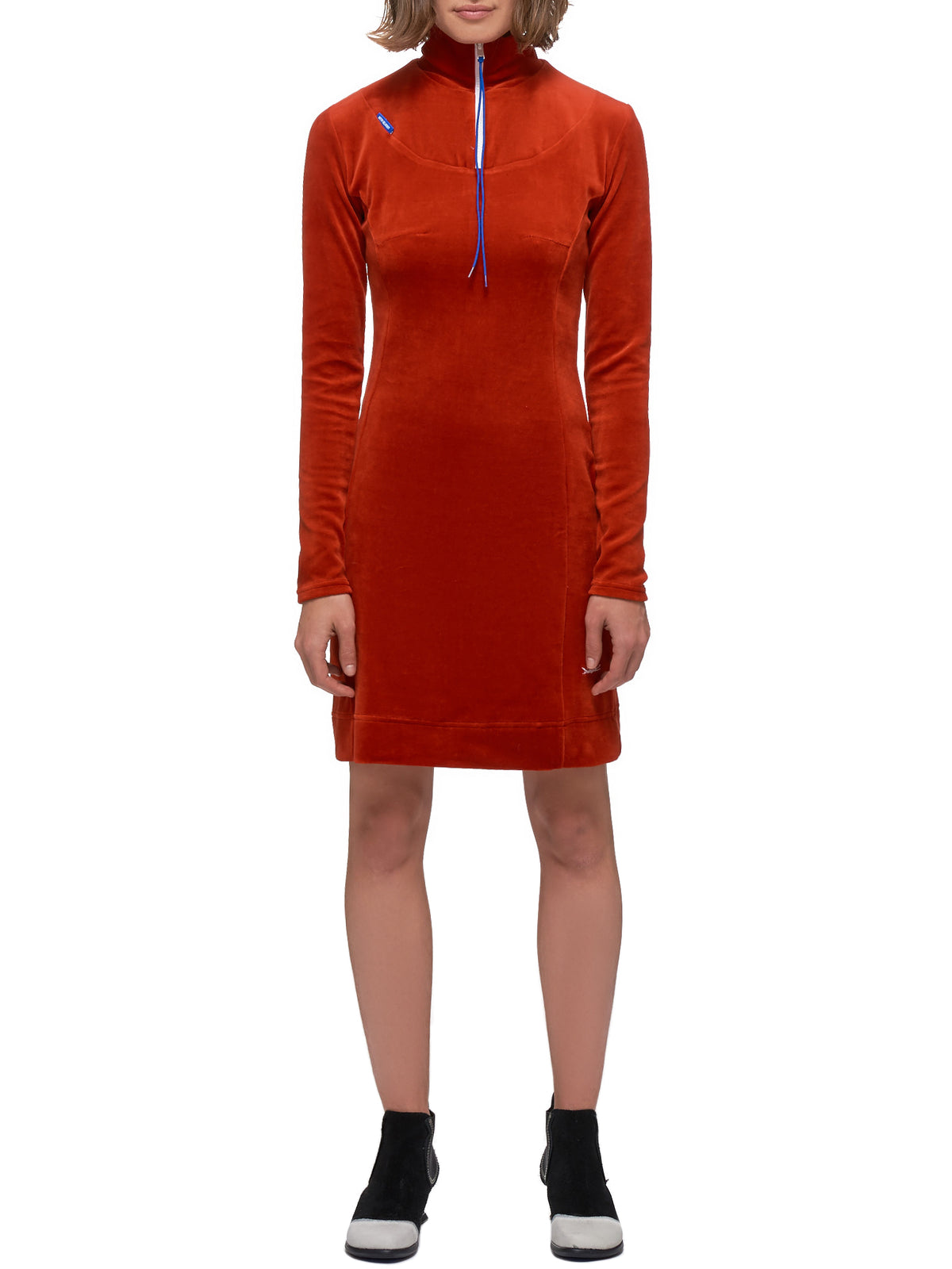 Microfiber Velour Dress (20-08-W-RED)