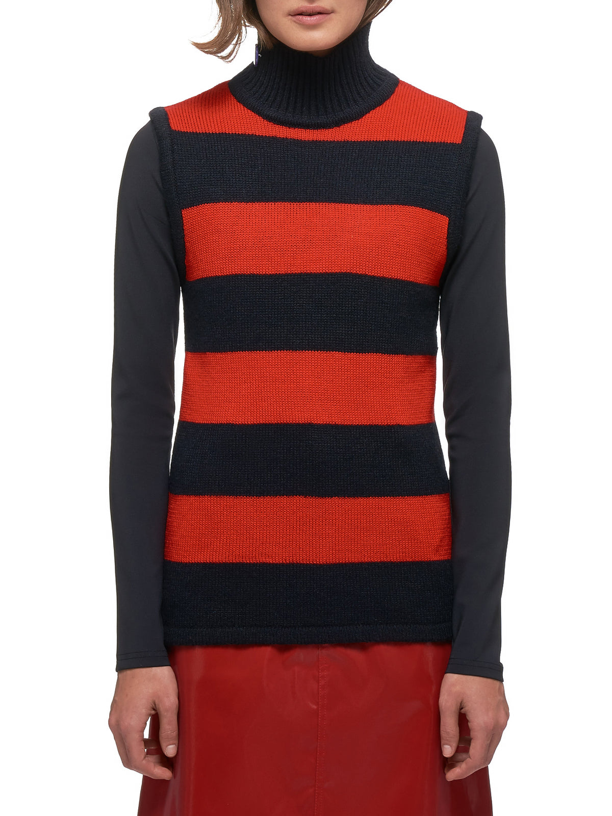 Striped Vest (20-69-W-RED-BLACK)