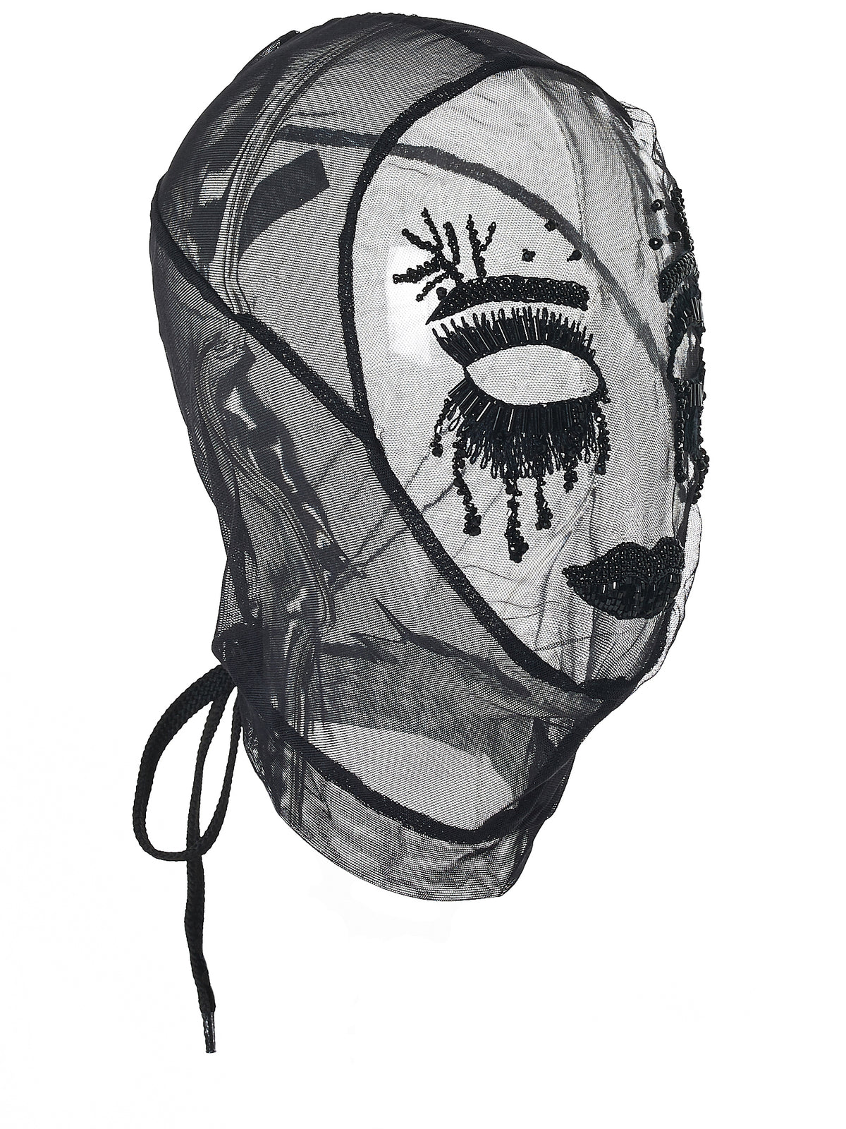 Beaded Net Mask (2001-BKNT-BLACK)