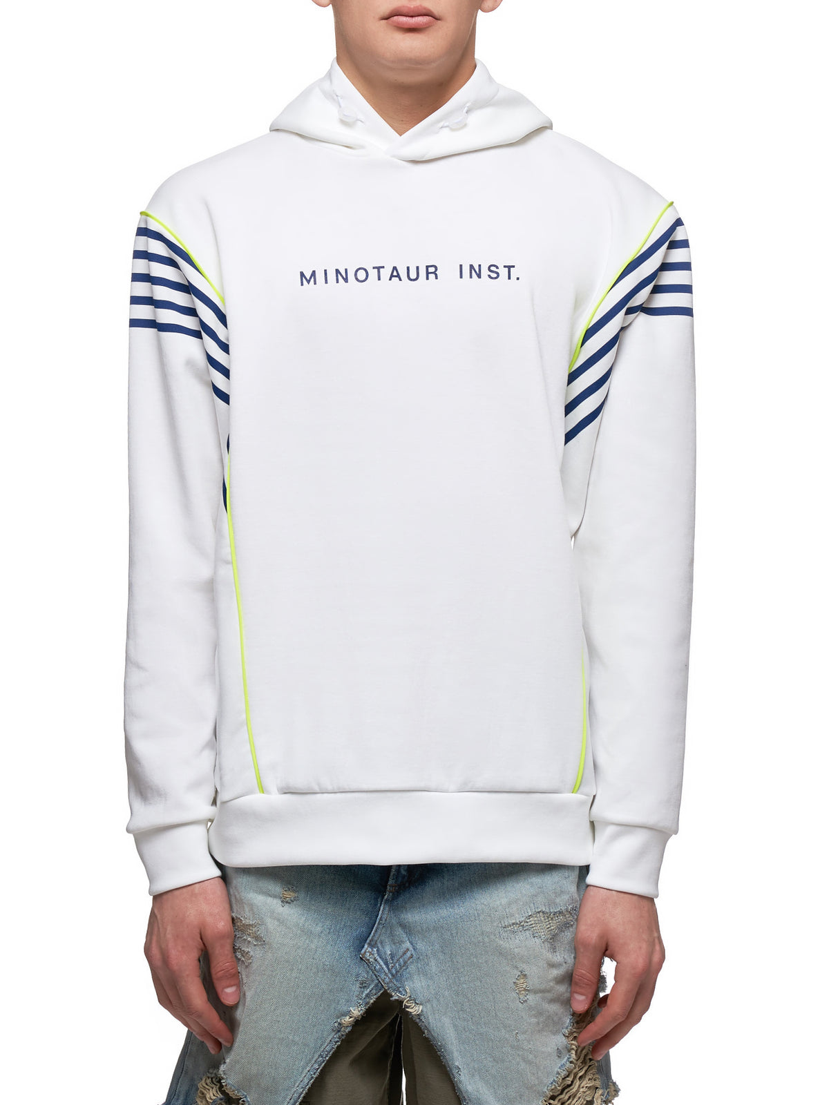 Hooded Sweatshirt (2001CU01-WHITE-BLUE)